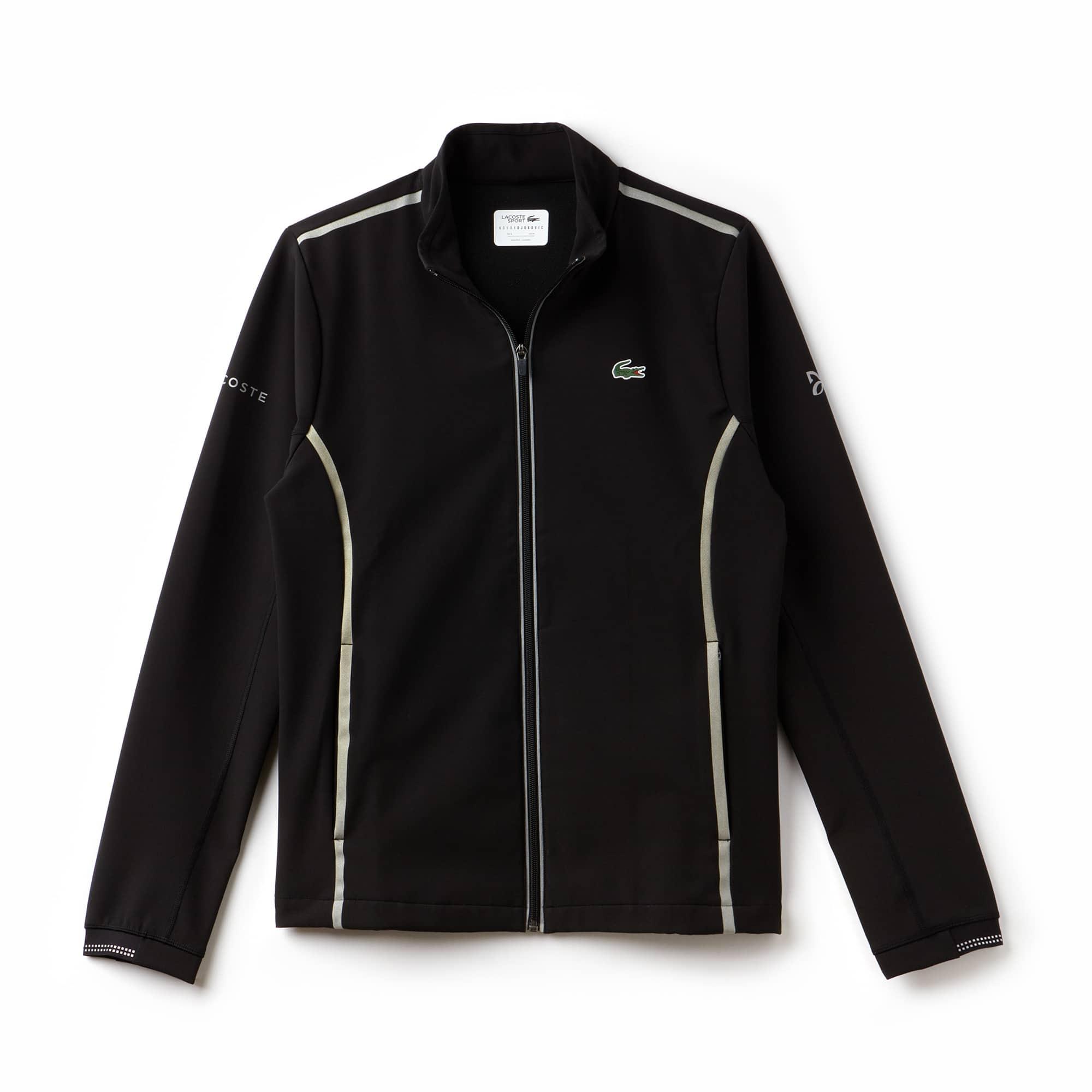 Men's Lacoste SPORT NOVAK DJOKOVIC SUPPORT WITH STYLE COLLECTION Technical Midlayer Zip Sweatshirt