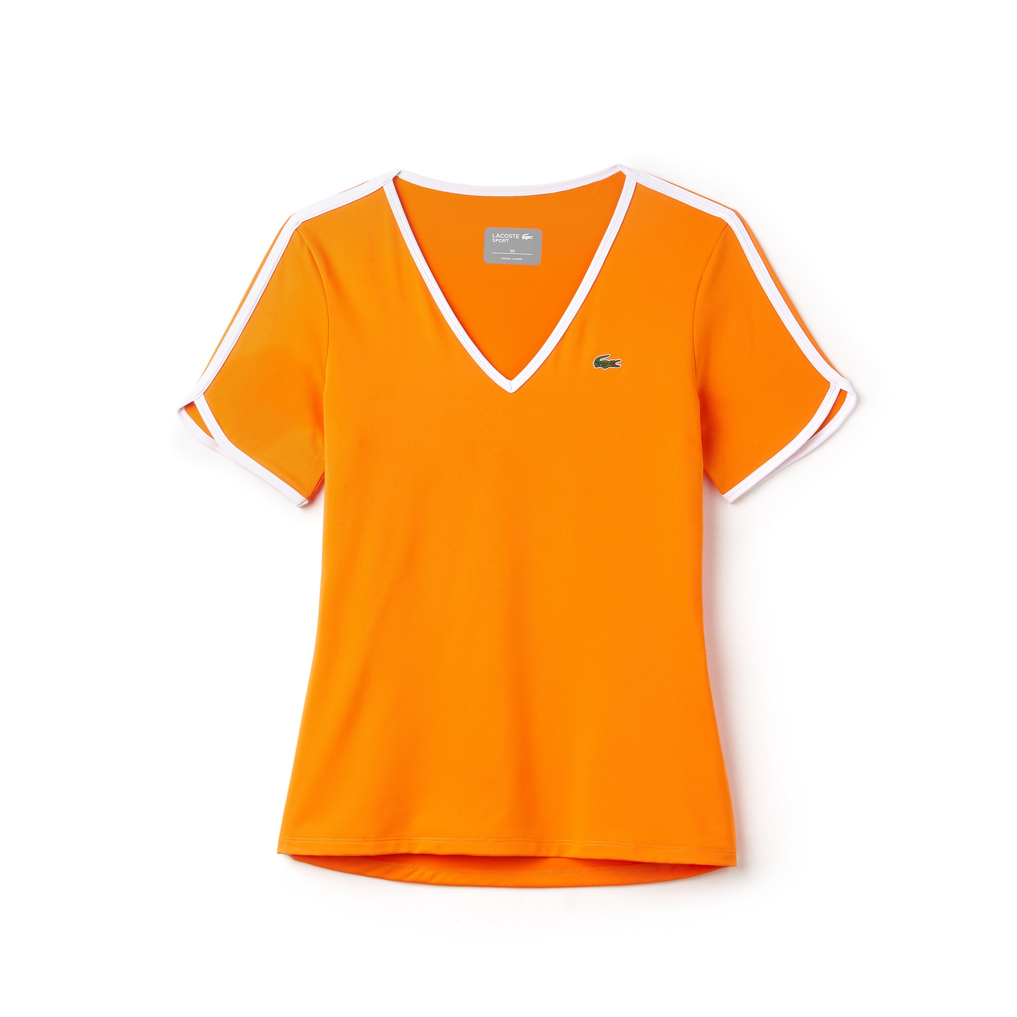 Women's Lacoste SPORT V-neck Stretch Tech Jersey Tennis T-shirt