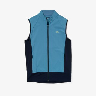 Men's Lacoste SPORT Colourblock Technical Taffeta Golf Quilted Vest
