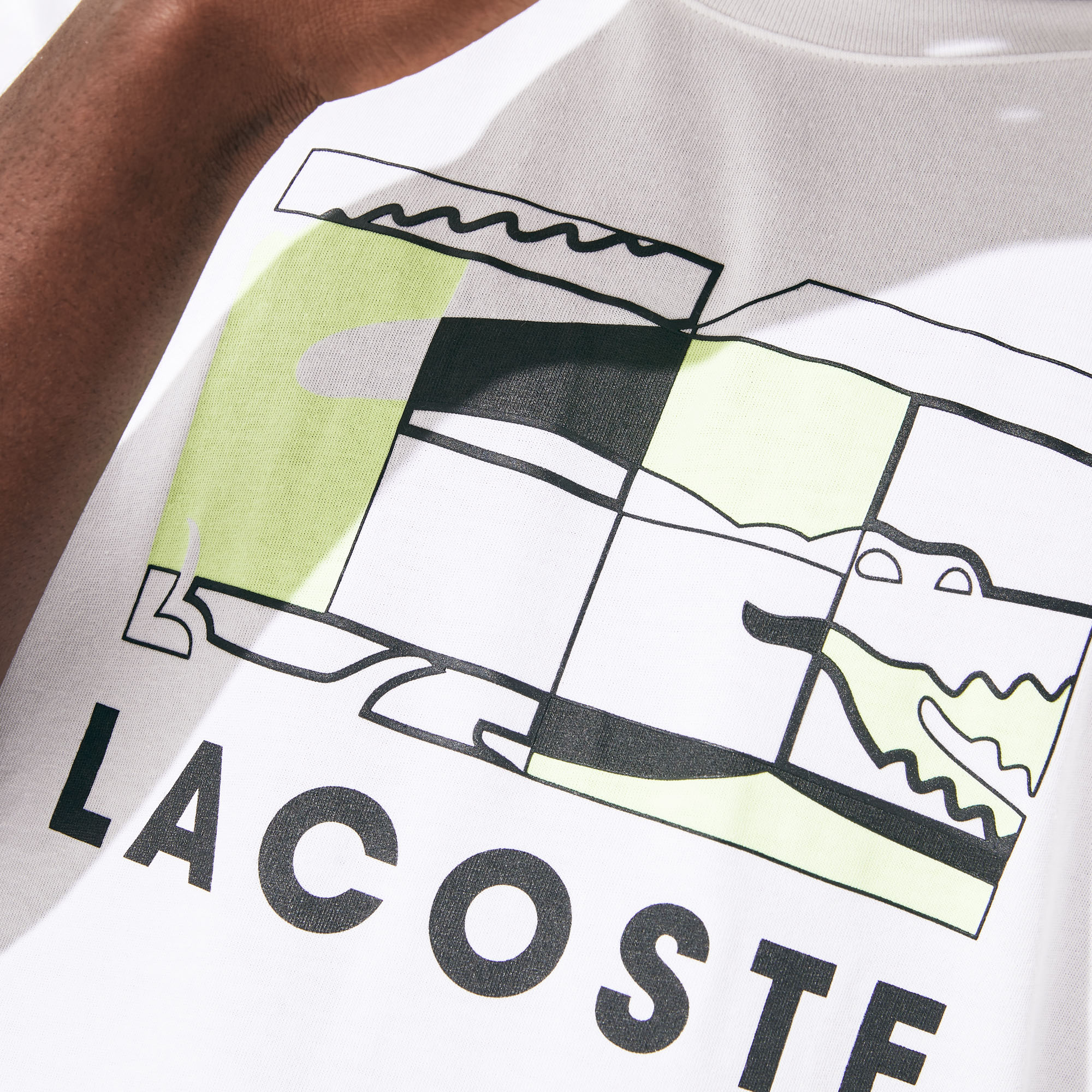 Men's Lacoste SPORT Tennis Court Design Breathable T-shirt