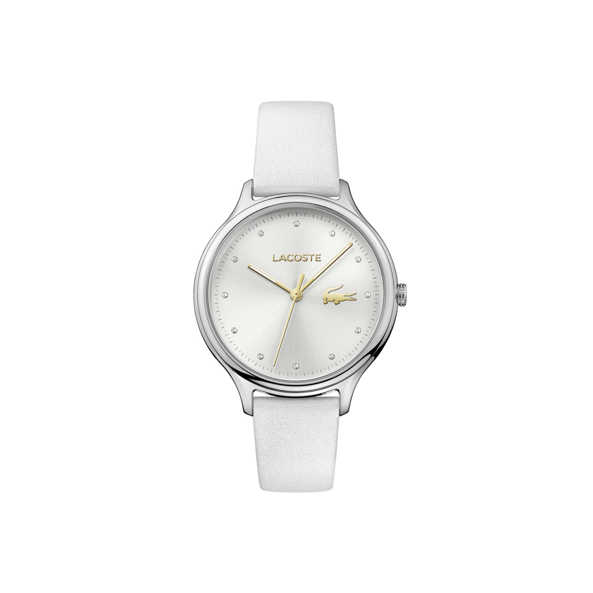 Women's Constance Watch with White Leather Strap