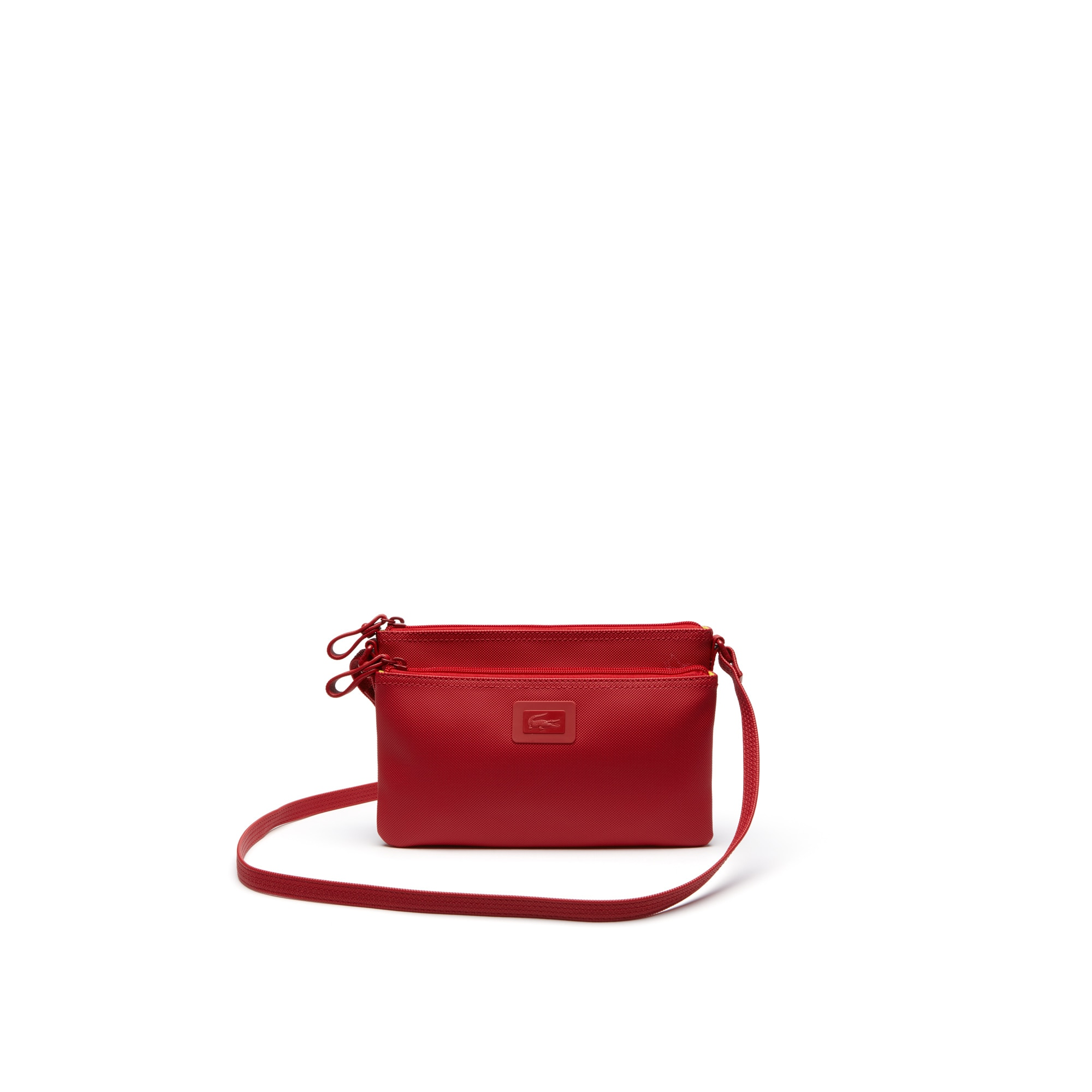 Women's Classic monochrome double zippered pouch