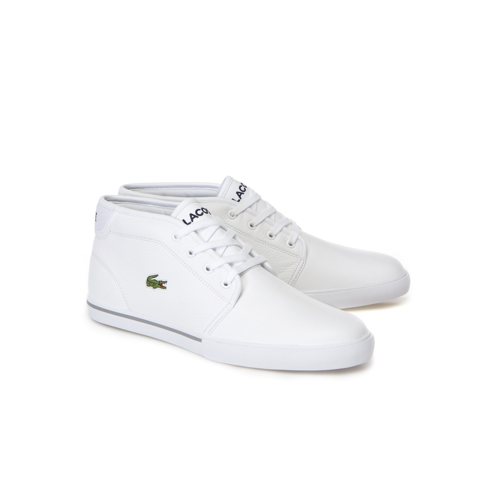 ff59ab4d7ed254 Men s Ampthill trainers in leather with piping