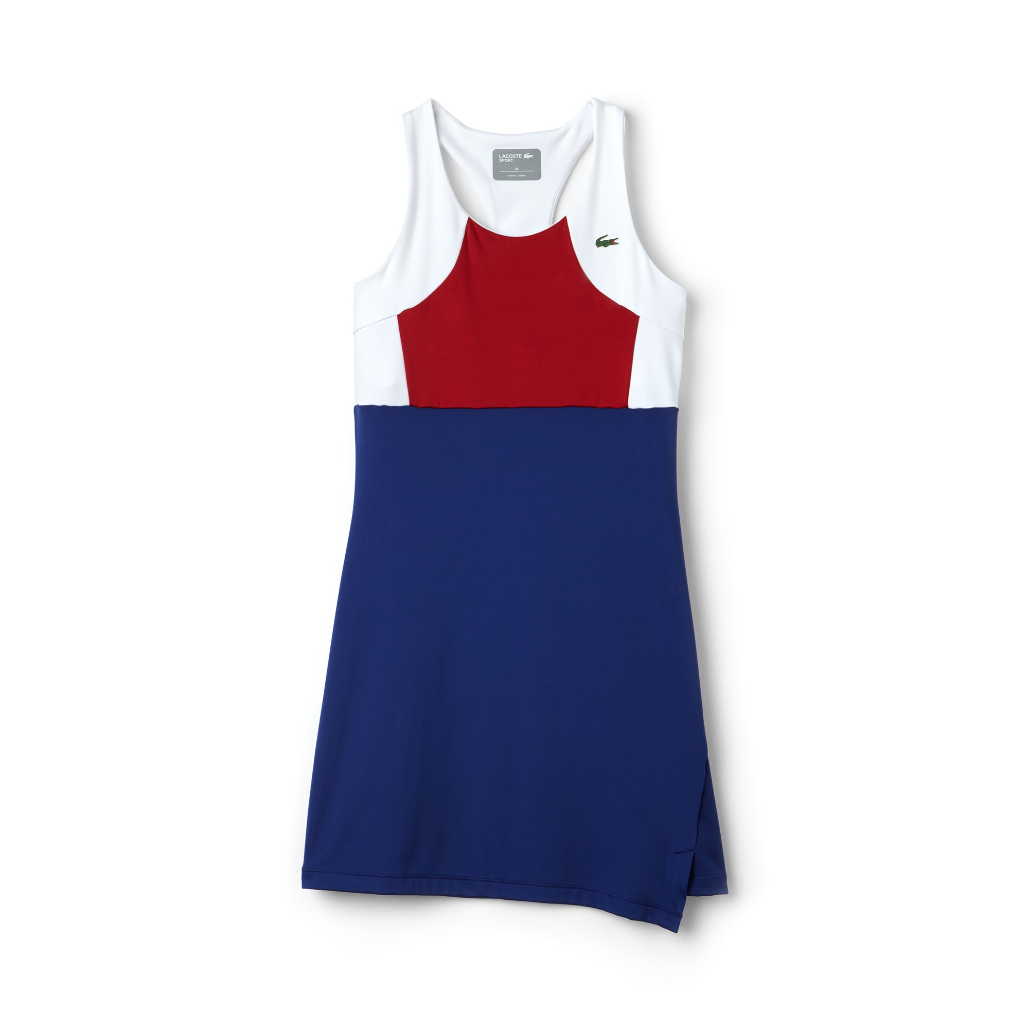 Women's Lacoste SPORT Tennis Colorblock Jersey Racerback Dress