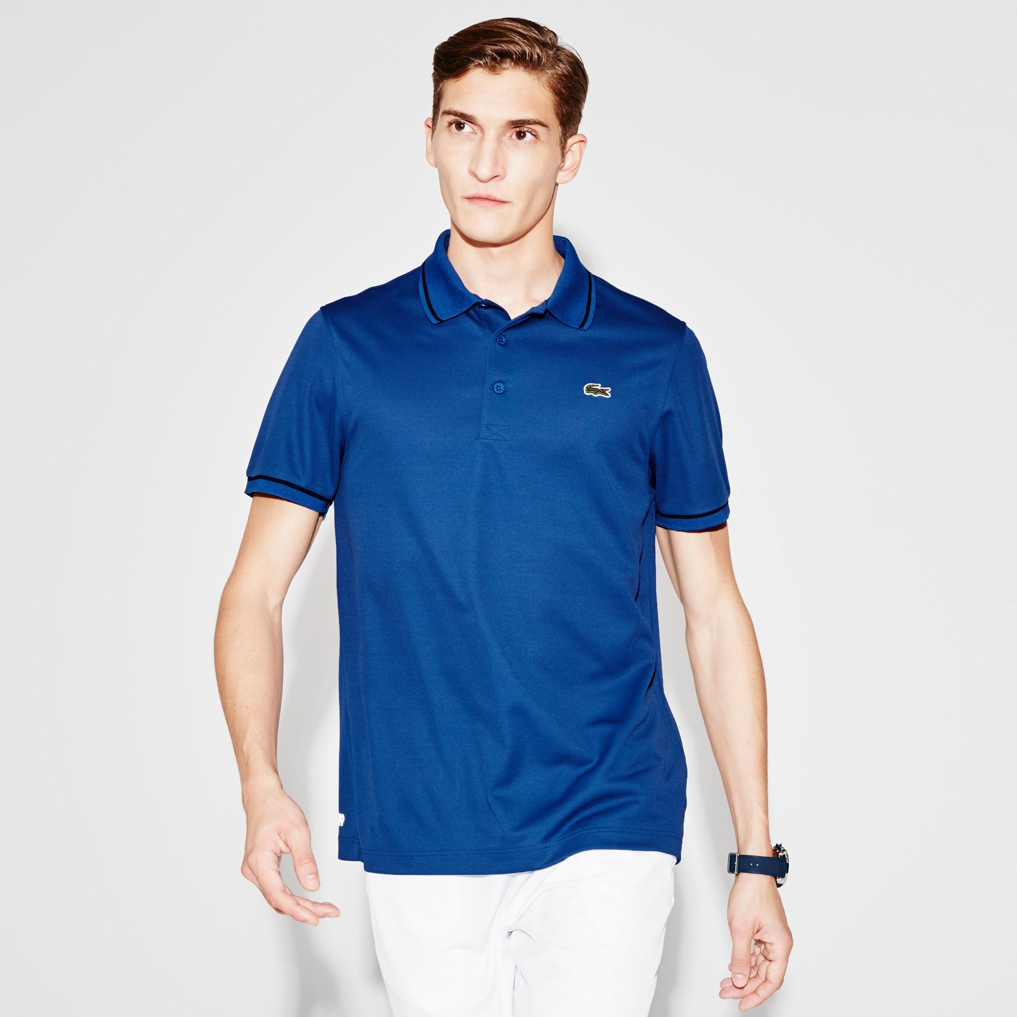 Men's Lacoste SPORT Tennis Piped Technical Piqué Polo Shirt