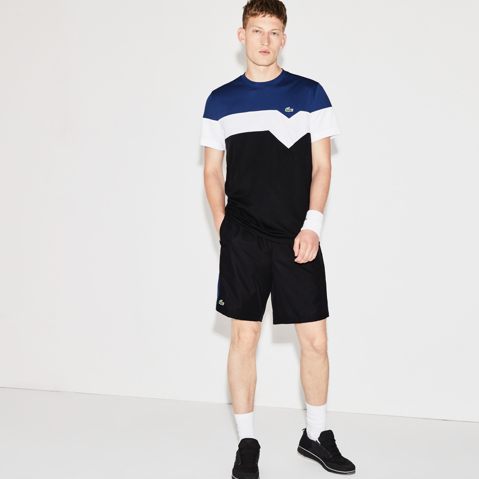 Men's Lacoste SPORT Tennis Colorblock Band Shorts