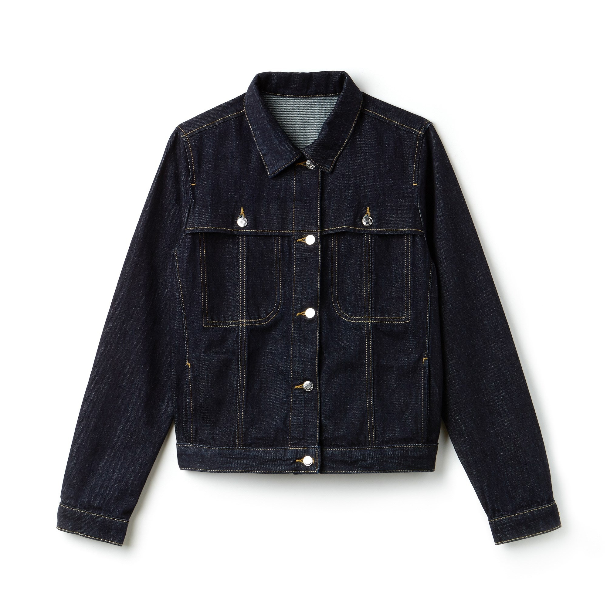 Women's Short Buttoned Denim Jacket