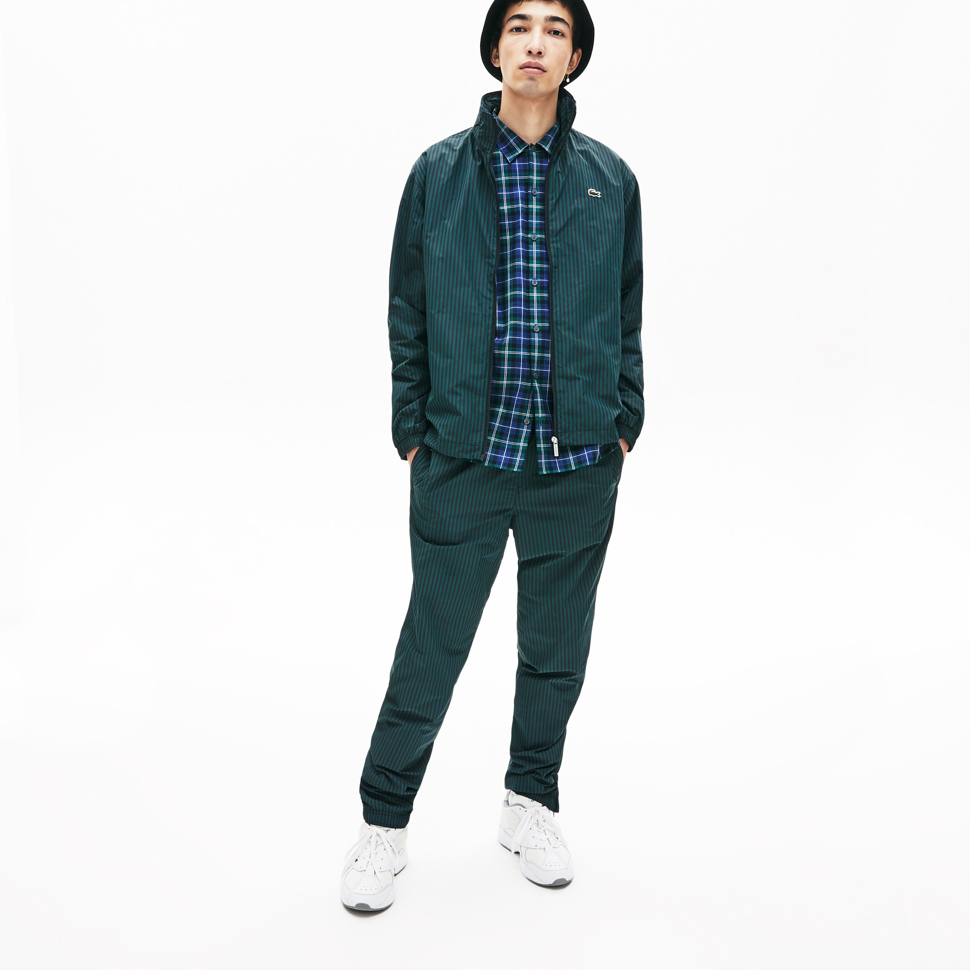 Men's Lacoste LIVE Striped Light Zip Jacket