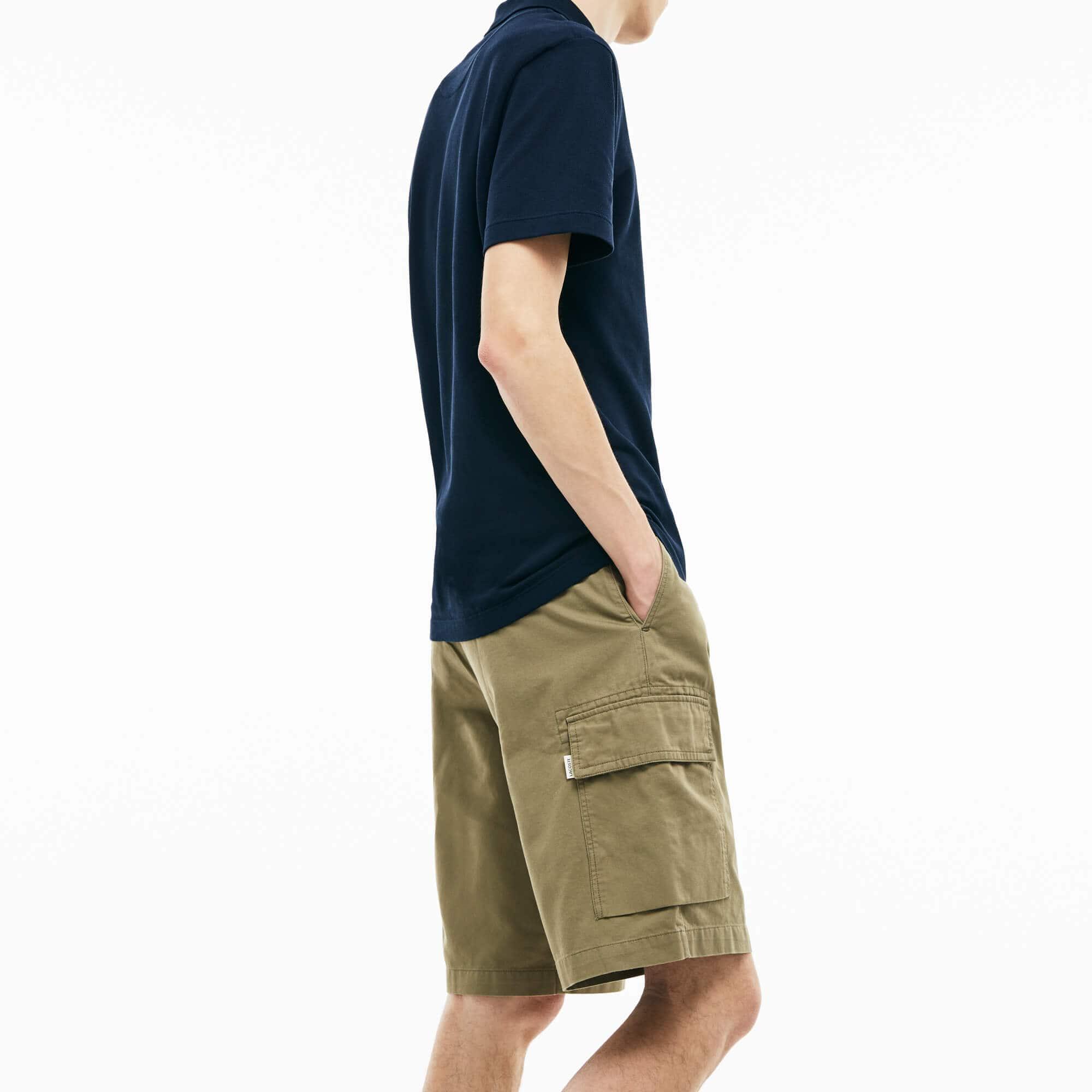 Men's Pockets Cotton Twill Cargo Bermuda Shorts