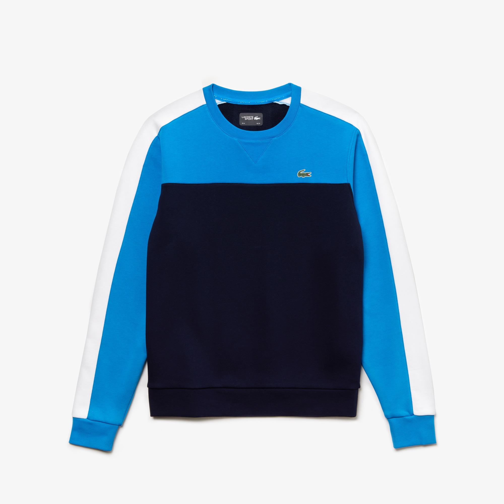 Men's Lacoste SPORT Crew Neck Colourblock Fleece Tennis...