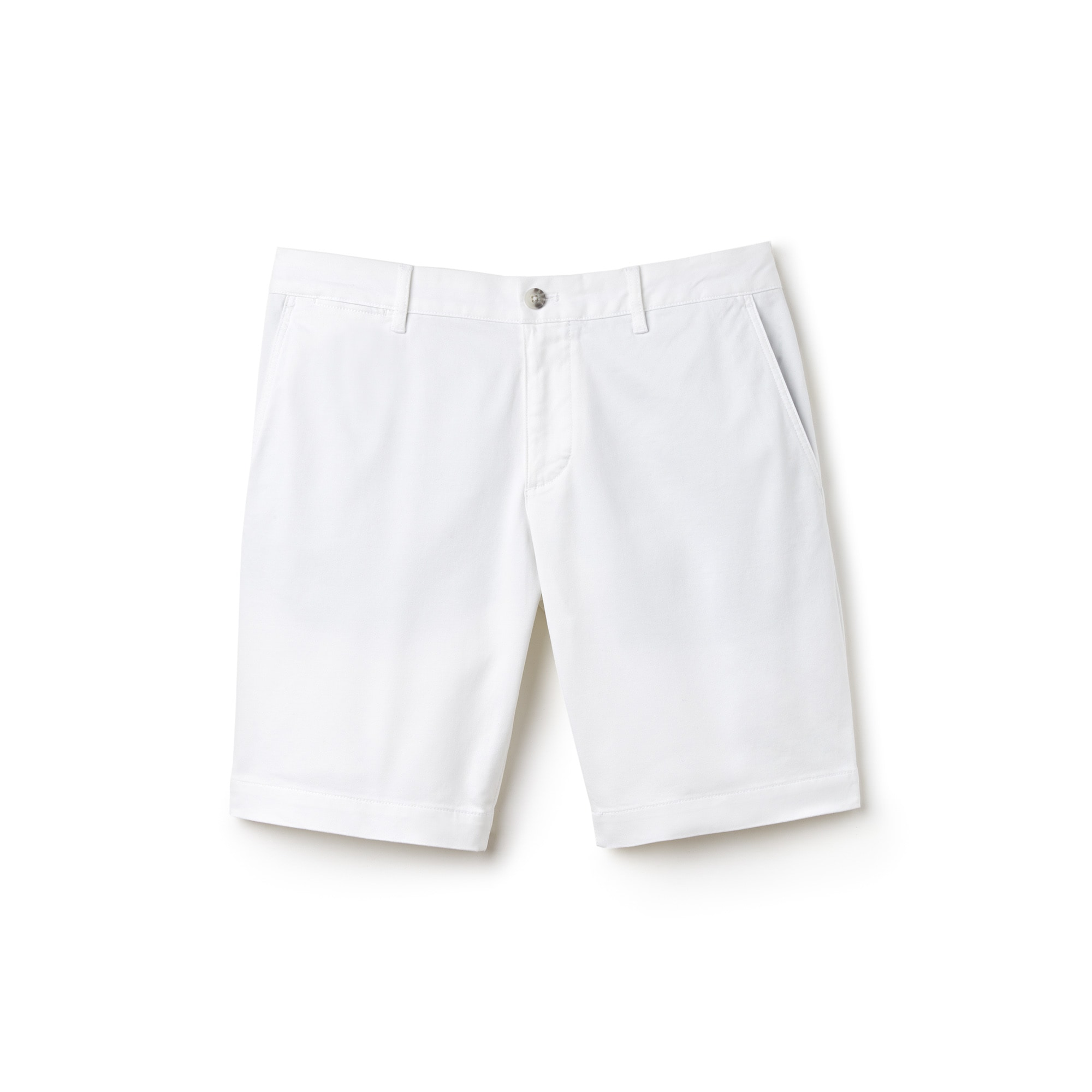Men's Slim Fit Stretch Gabardine Bermuda Shorts