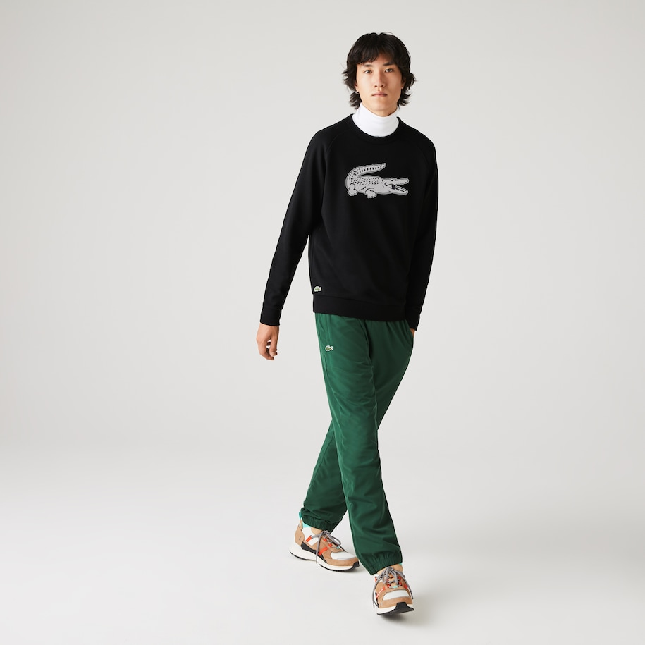 Men's Lacoste SPORT Oversized Crocodile Fleece Sweatshirt