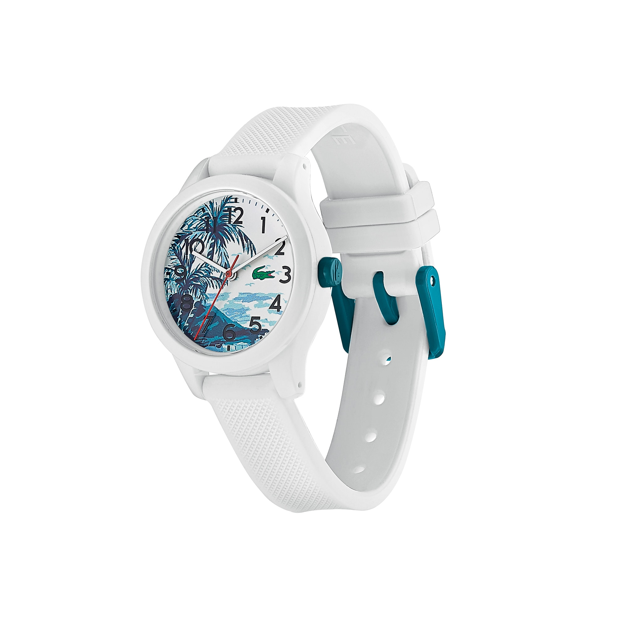 b5150014b6 Kids Lacoste.12.12 Hawaii Watch with White Silicone with Petit Piqué ...