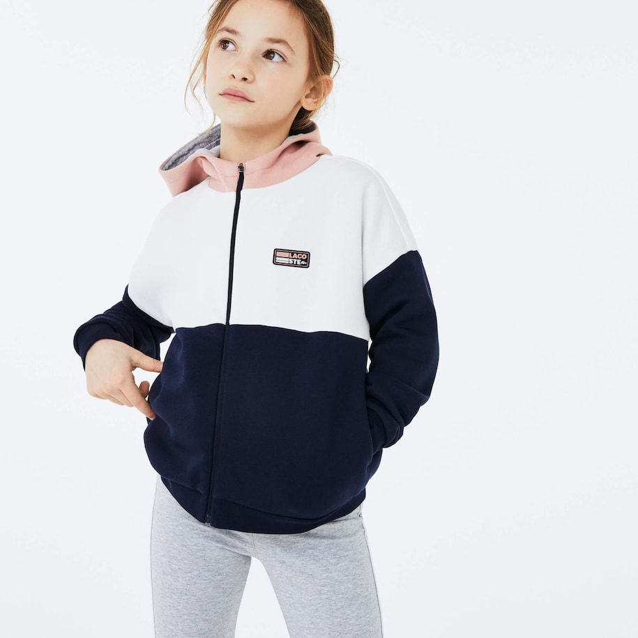 Girls' Lacoste SPORT Colourblock Fleece Sweatshirt