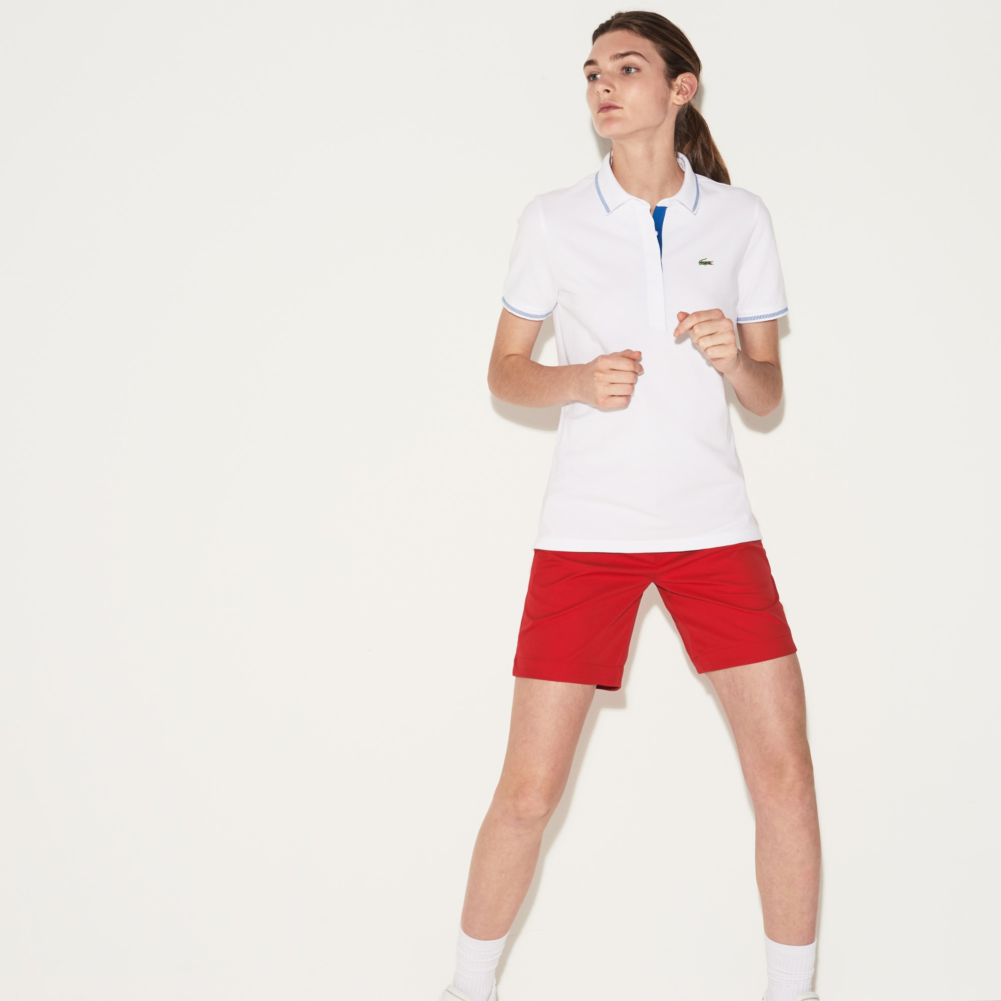 Women's Lacoste SPORT Light Stretch Technical Cotton Golf Polo