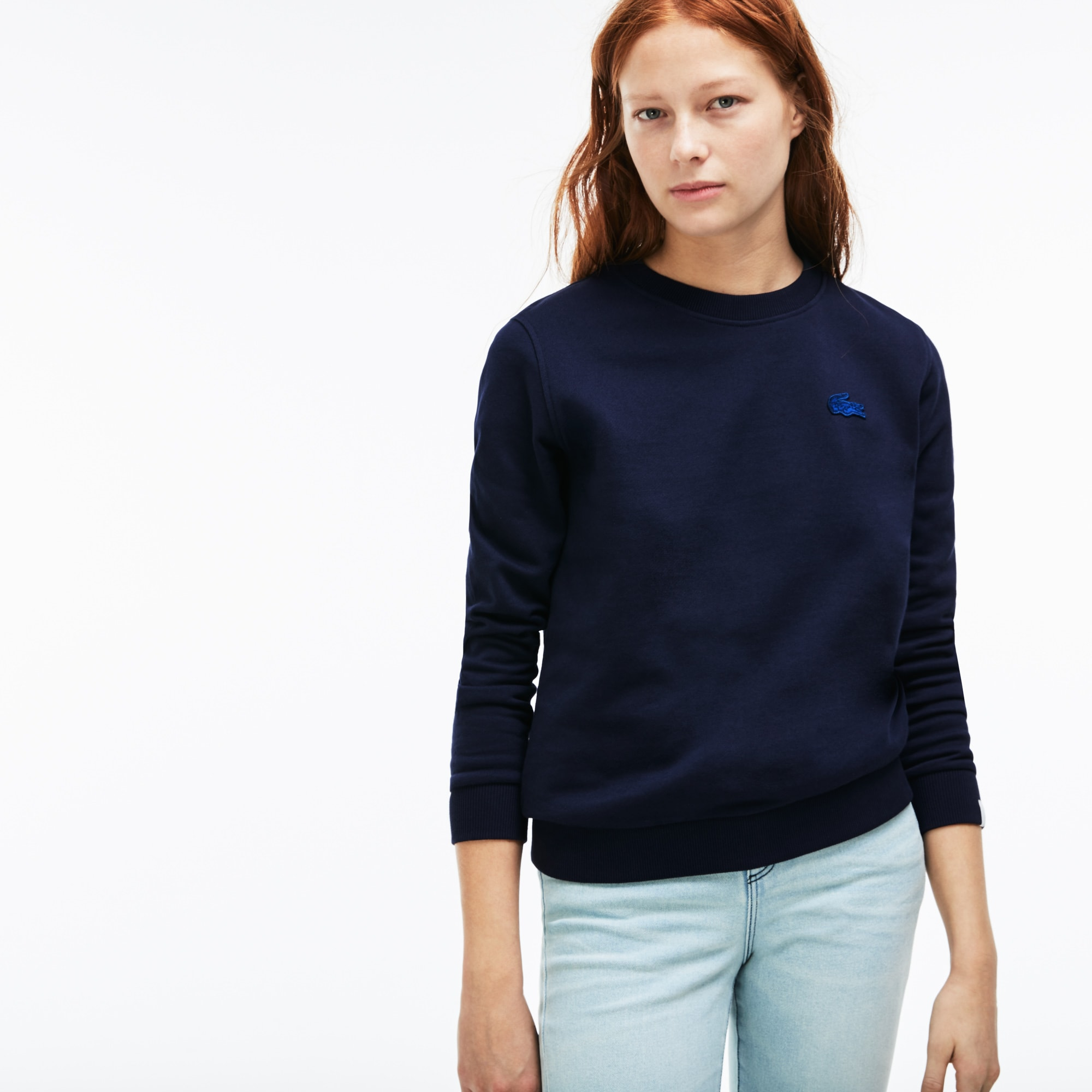 Women's Lacoste LIVE Teardrop Opening Fleece Sweatshirt