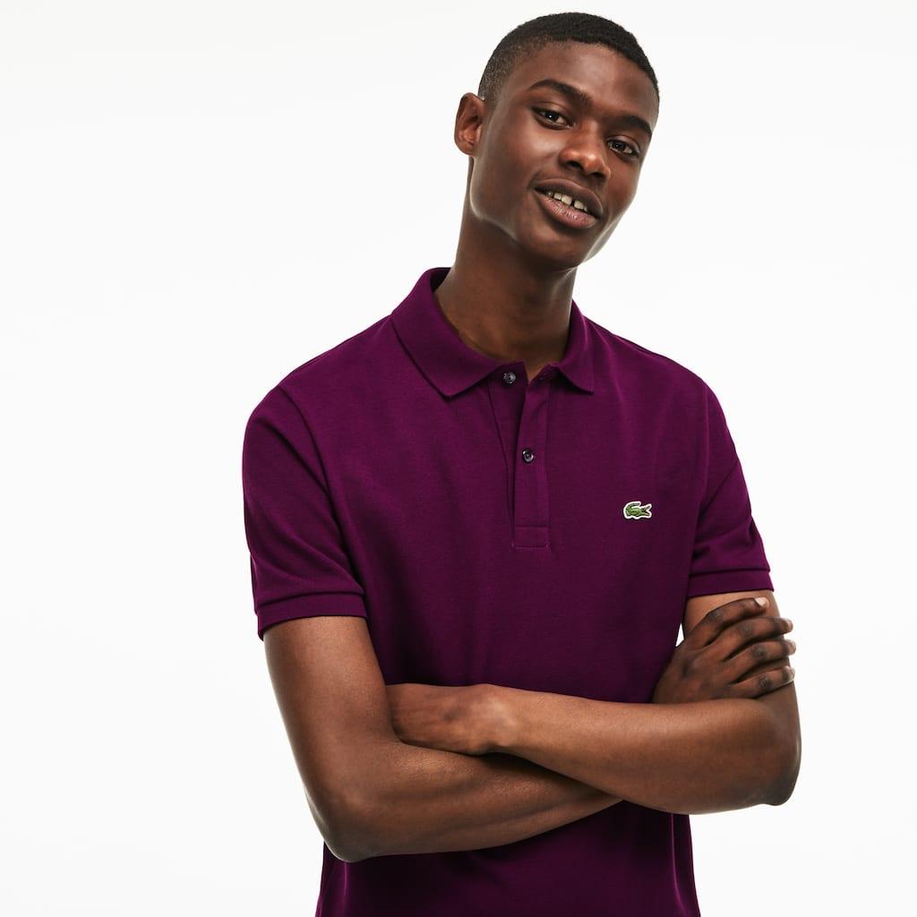 Mens Slim Fit Lacoste Polo Shirt In Petit Piqu Lacoste