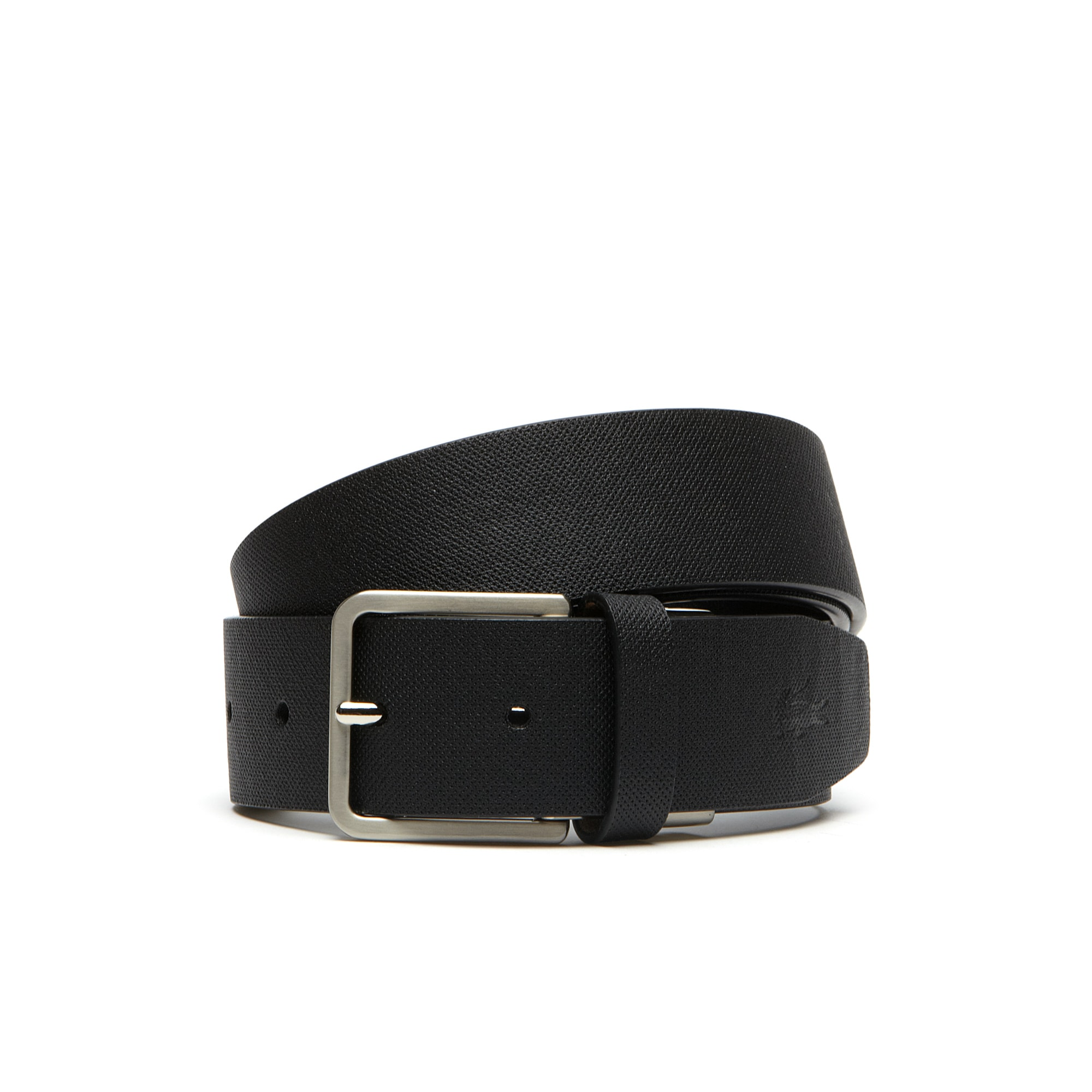 58610d450b Belt in monochrome petit piqué embossed leather | LACOSTE