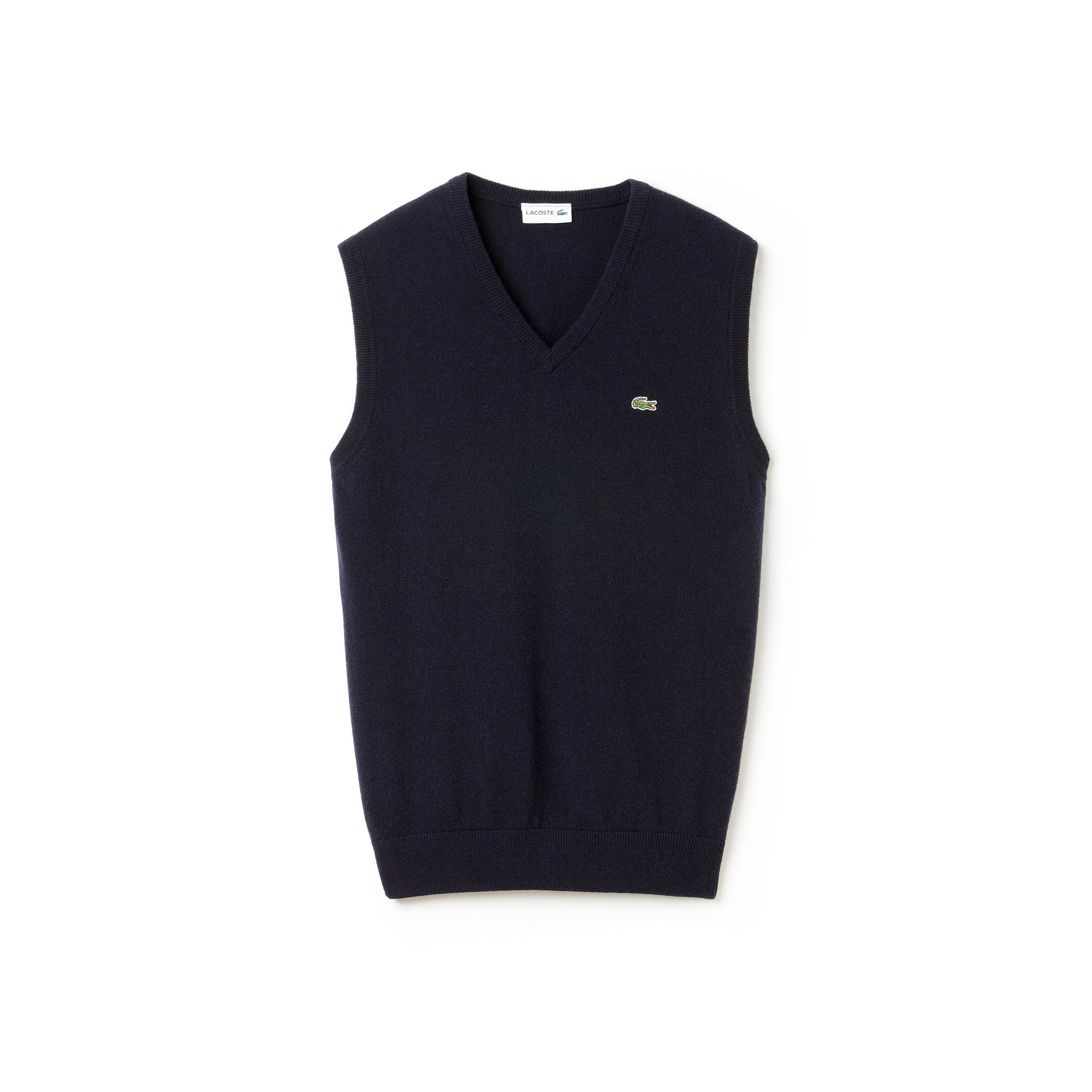 Men's V-neck Wool Jersey Vest