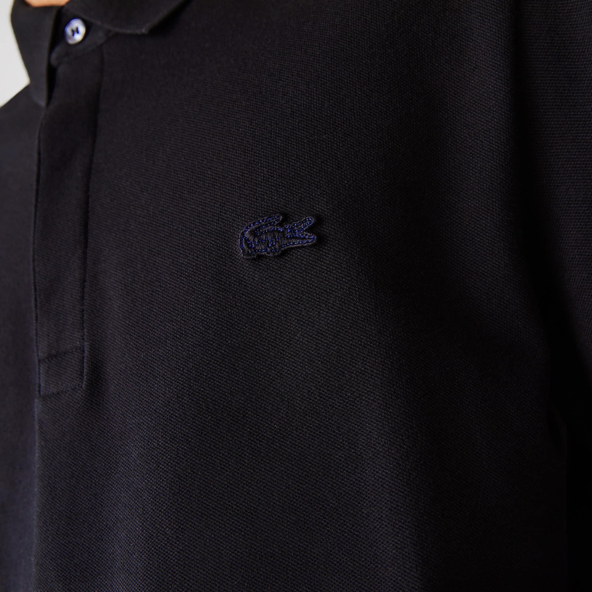 Men's Long-sleeve Lacoste Paris Classic Fit Polo Shirt Stretch