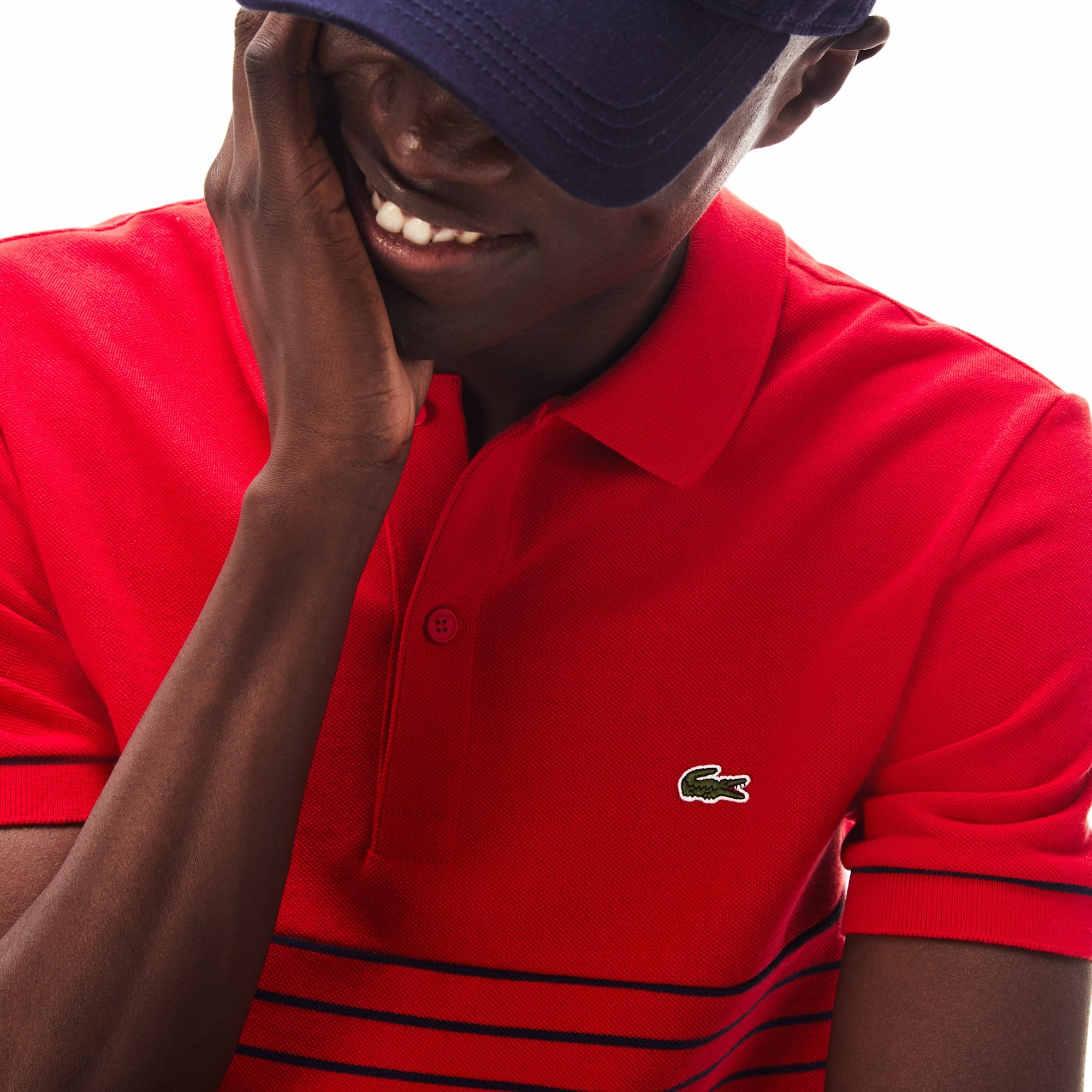 Men's Lacoste Striped Cotton Petit Piqué Polo Shirt