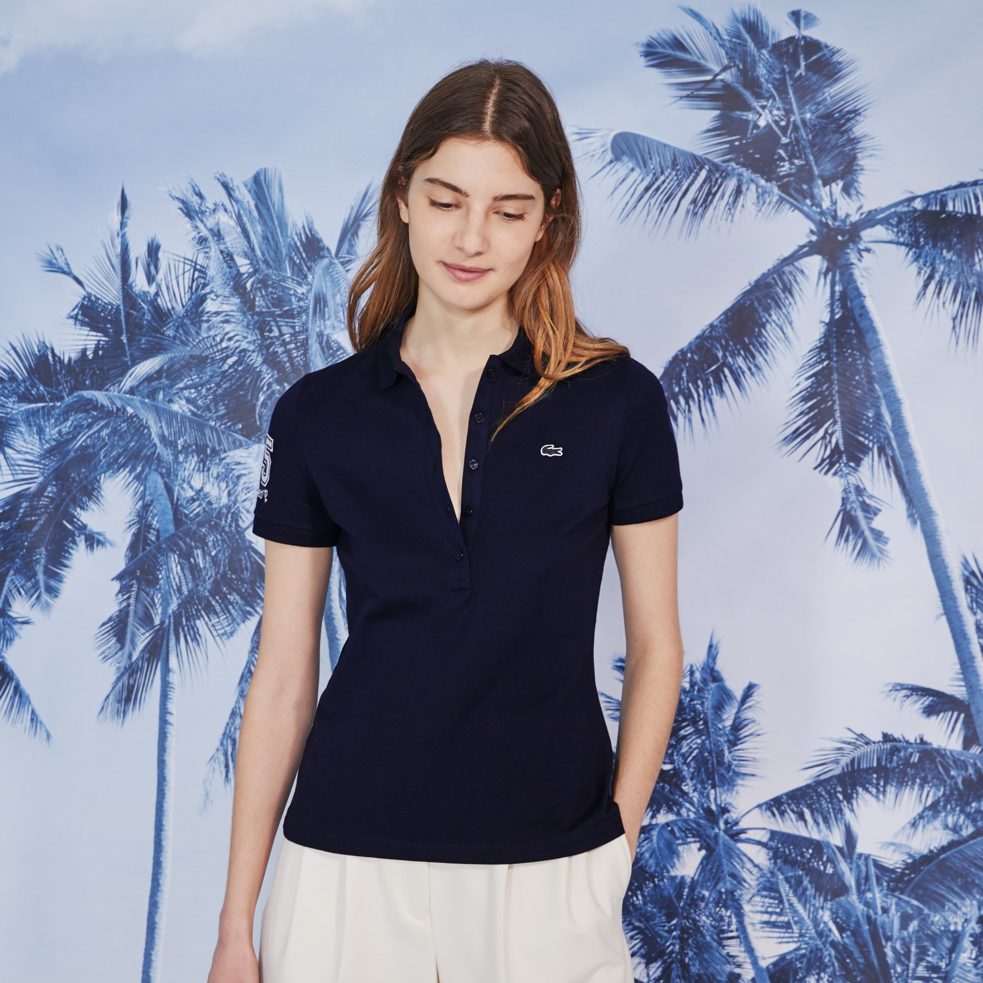 Women's Lacoste Slim Fit Club Med Polo Shirt