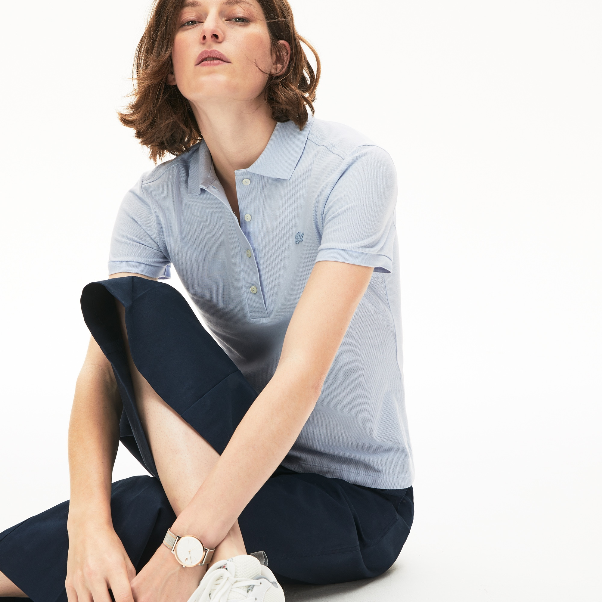 Women's Lacoste Stretch Cotton Piqué Polo Shirt