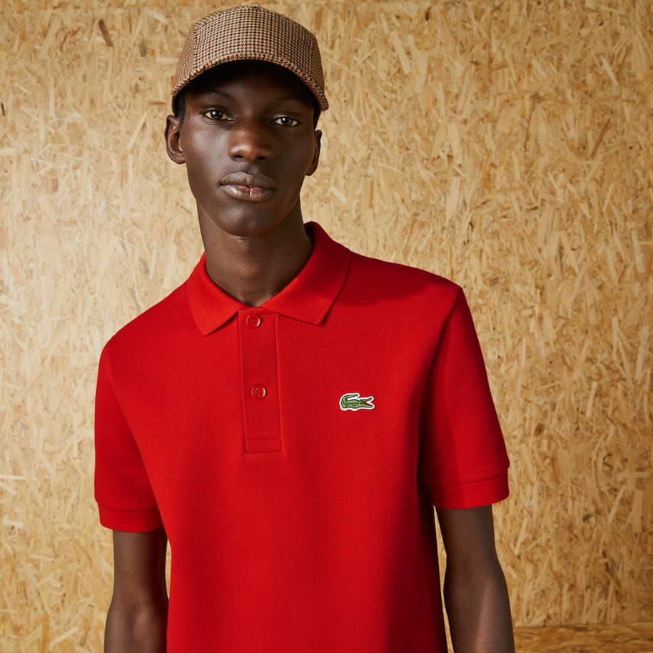 Men's Lacoste Fashion Show Edition Solid Stretch Cotton Polo Shirt