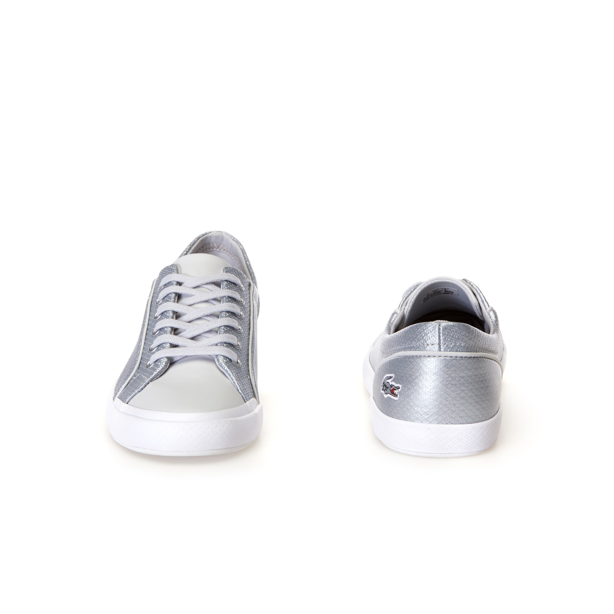 Women's Lancelle Silver Chantaco Leather Trainers