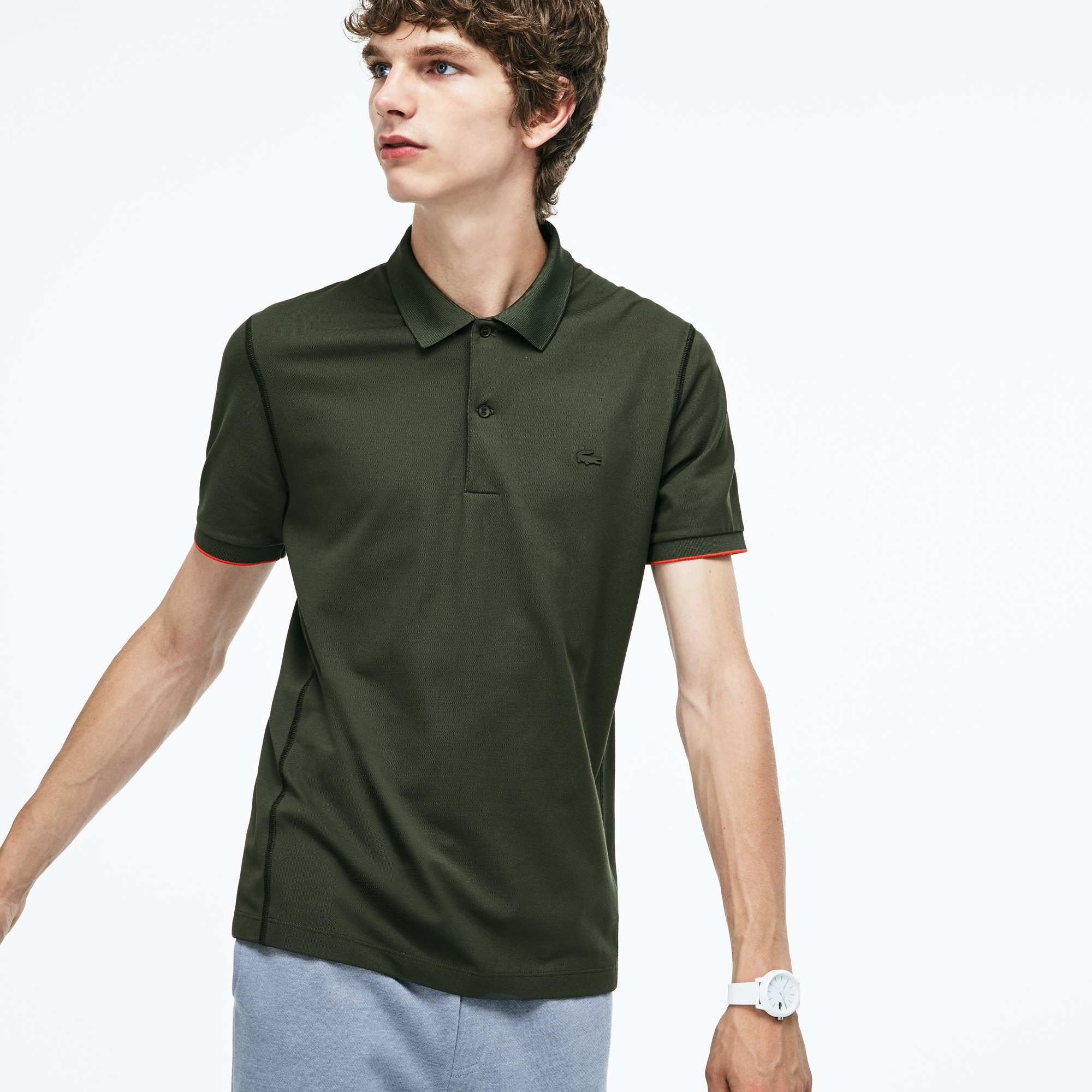 Men's Lacoste Motion Regular Fit Technical Petit Piqué Polo