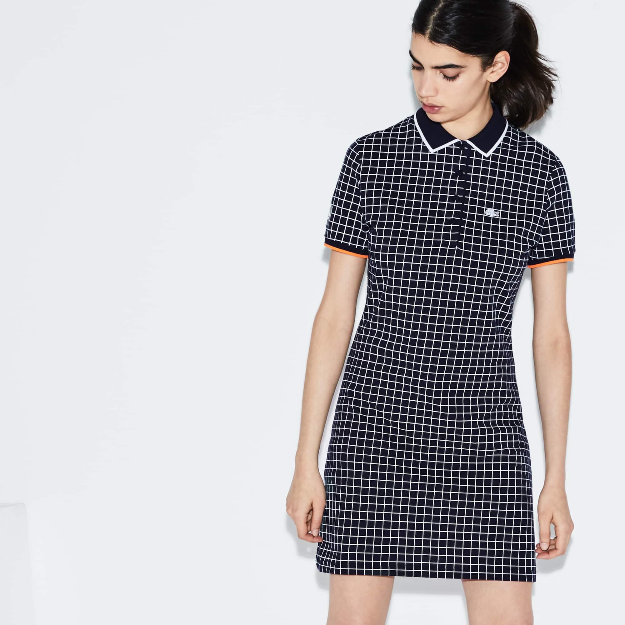 Women's Lacoste SPORT Roland Garros Edition Print Mini Piqué Polo Dress