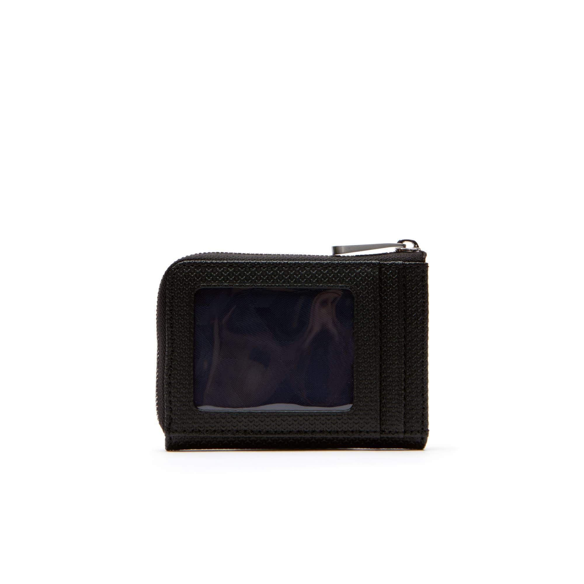 mens chantaco matte piqu leather zip card holder - Zip Card Holder