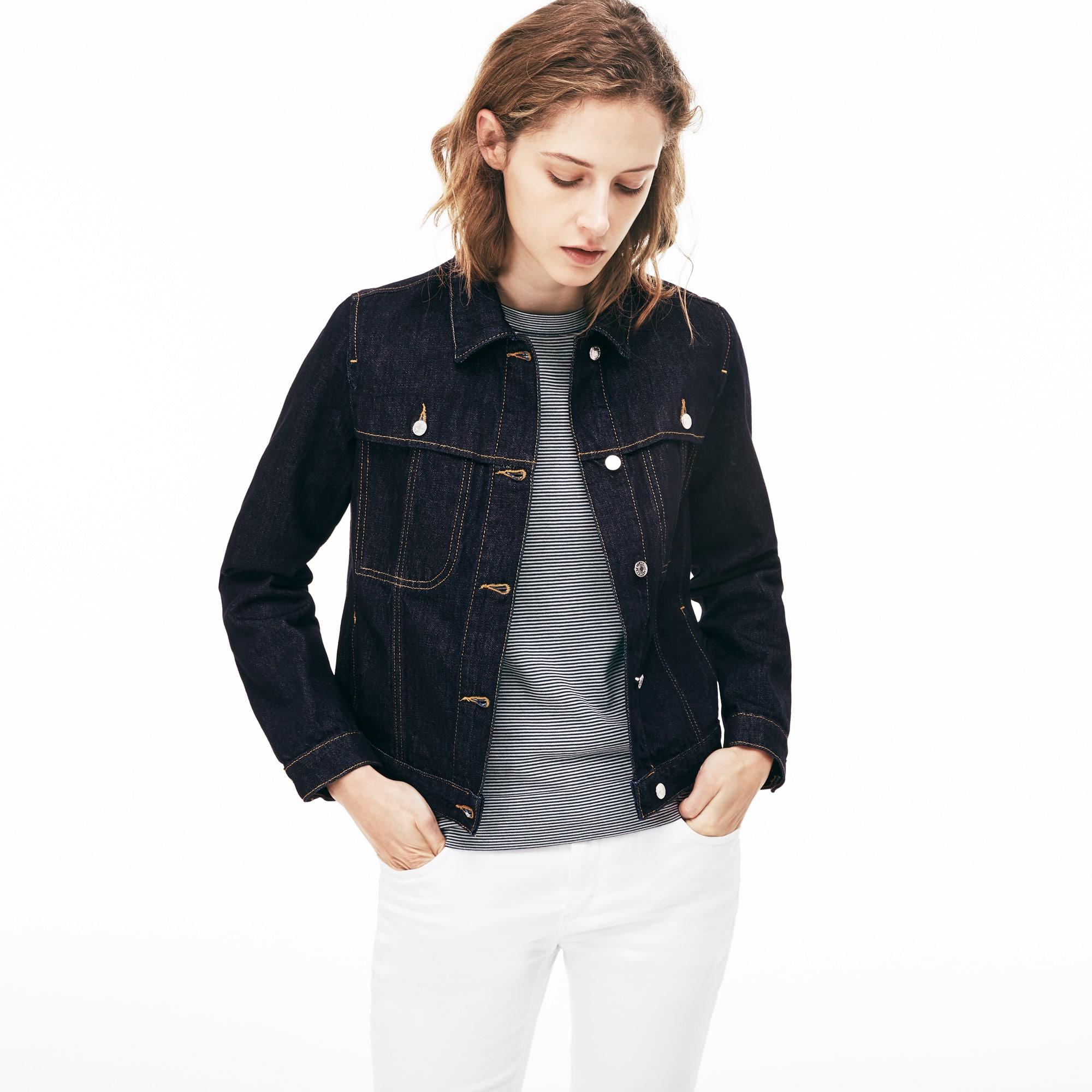 Women's Short Buttoned Denim Jacket