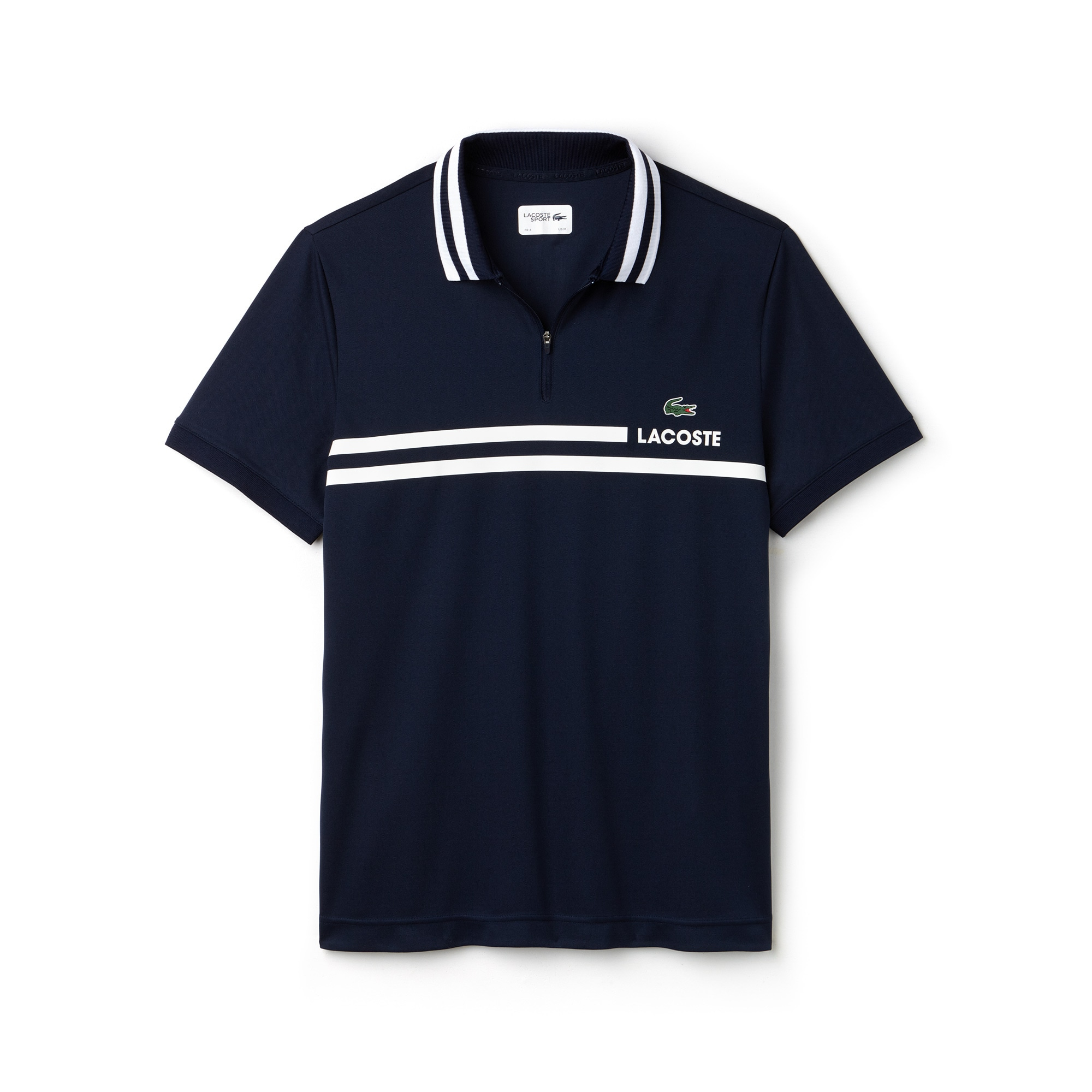 Men's Lacoste SPORT Contrast Band Tech Piqué Tennis Polo