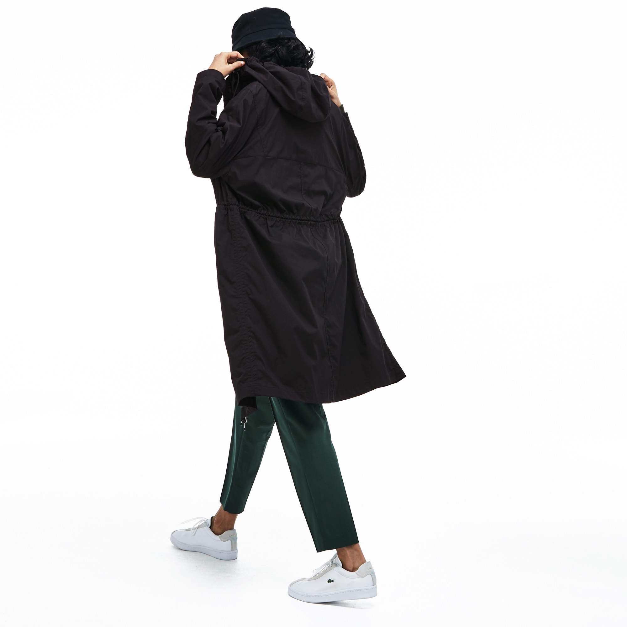 Women's Long Hooded Water-Resistant Canvas Parka