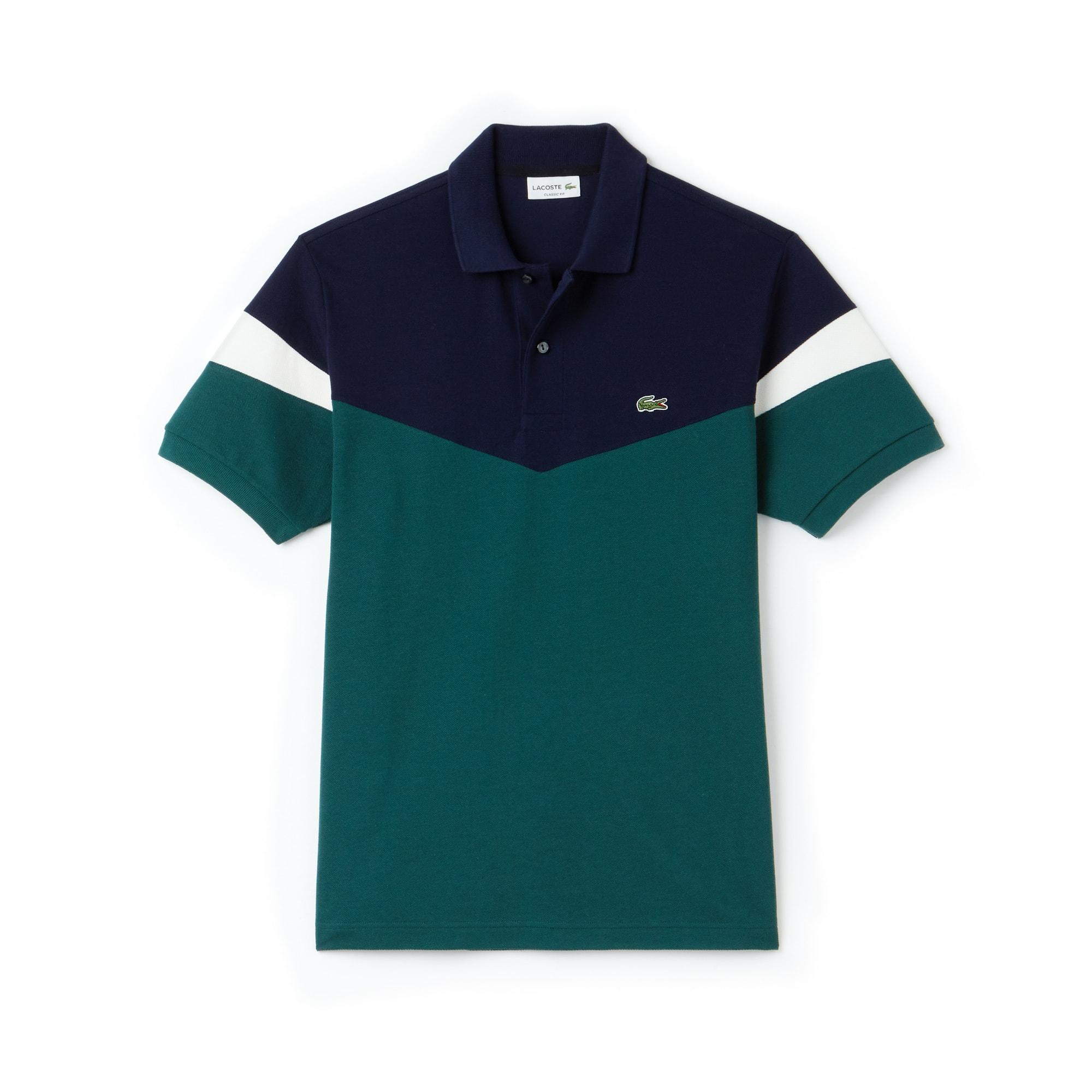 Men's Lacoste Classic Fit Colorblock Cotton Petit Piqué Polo Shirt