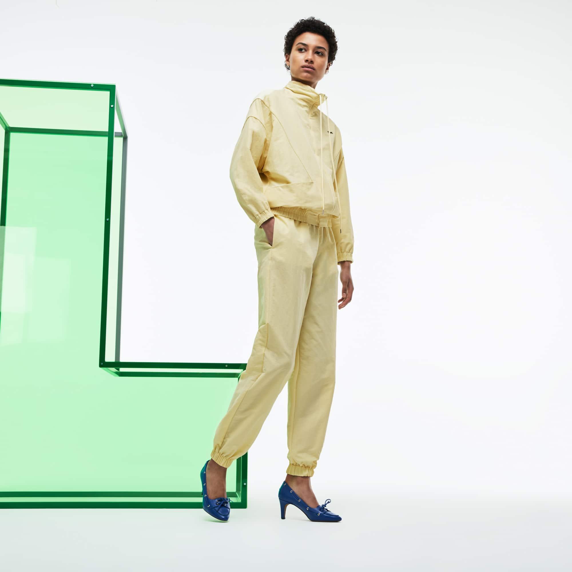 Women's Fashion Show Loose Fit Technical Canvas Sweatpants