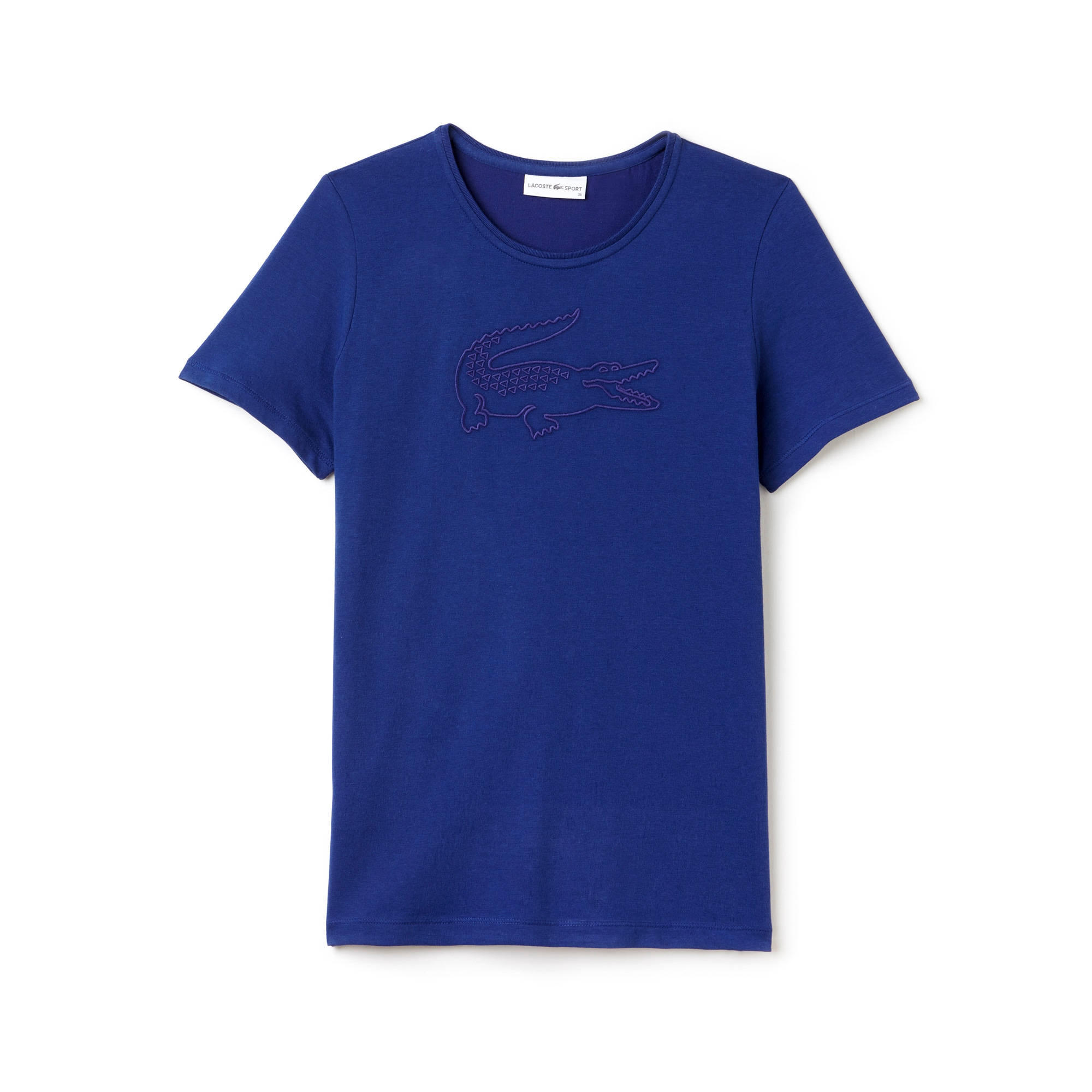 Women's Lacoste SPORT Tennis Croc Embroidery Tech Jersey T-shirt