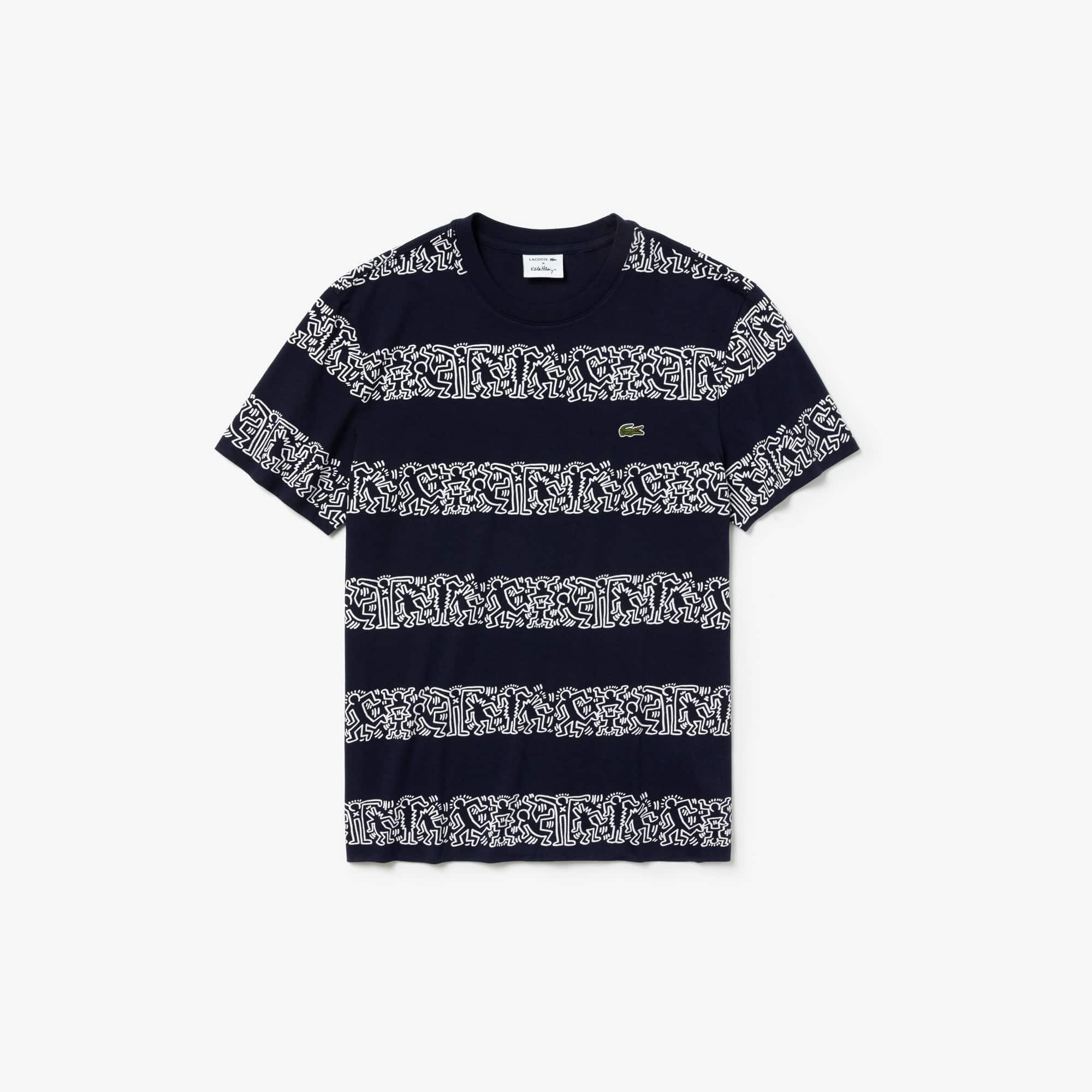 b9dfde48 Men's Keith Haring Striped Print Crew Neck Cotton T-shirt | LACOSTE