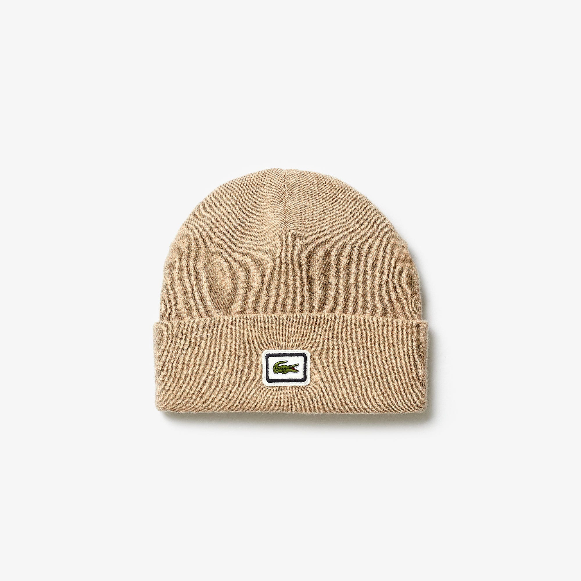 Men's Badge Thick Wool Blend Beanie