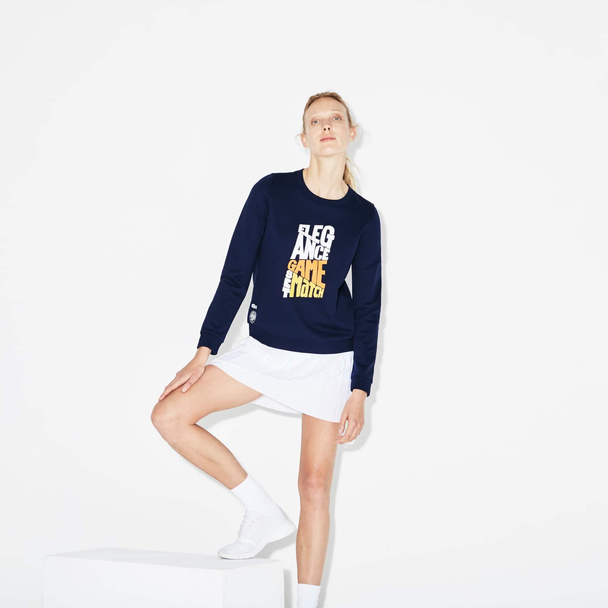Women's Lacoste SPORT Roland Garros Edition Design Fleece Sweatshirt