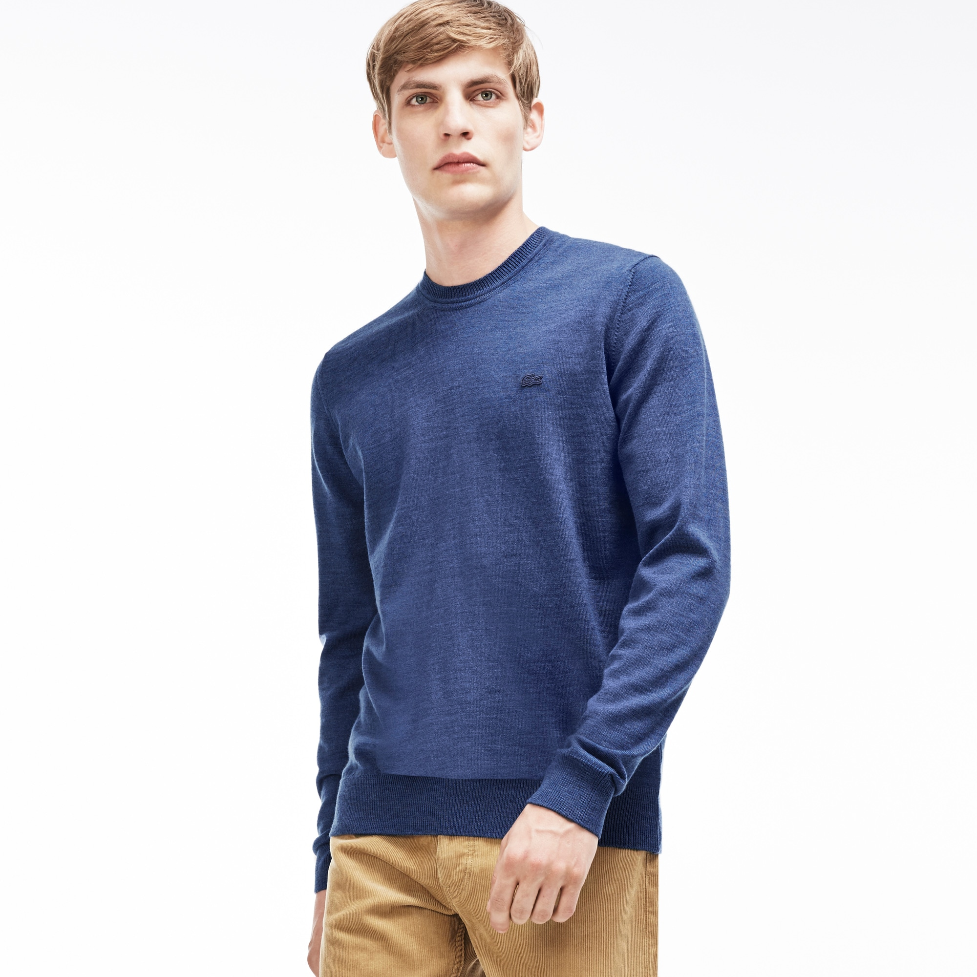 Men's Crew Neck Wool Jersey Sweater