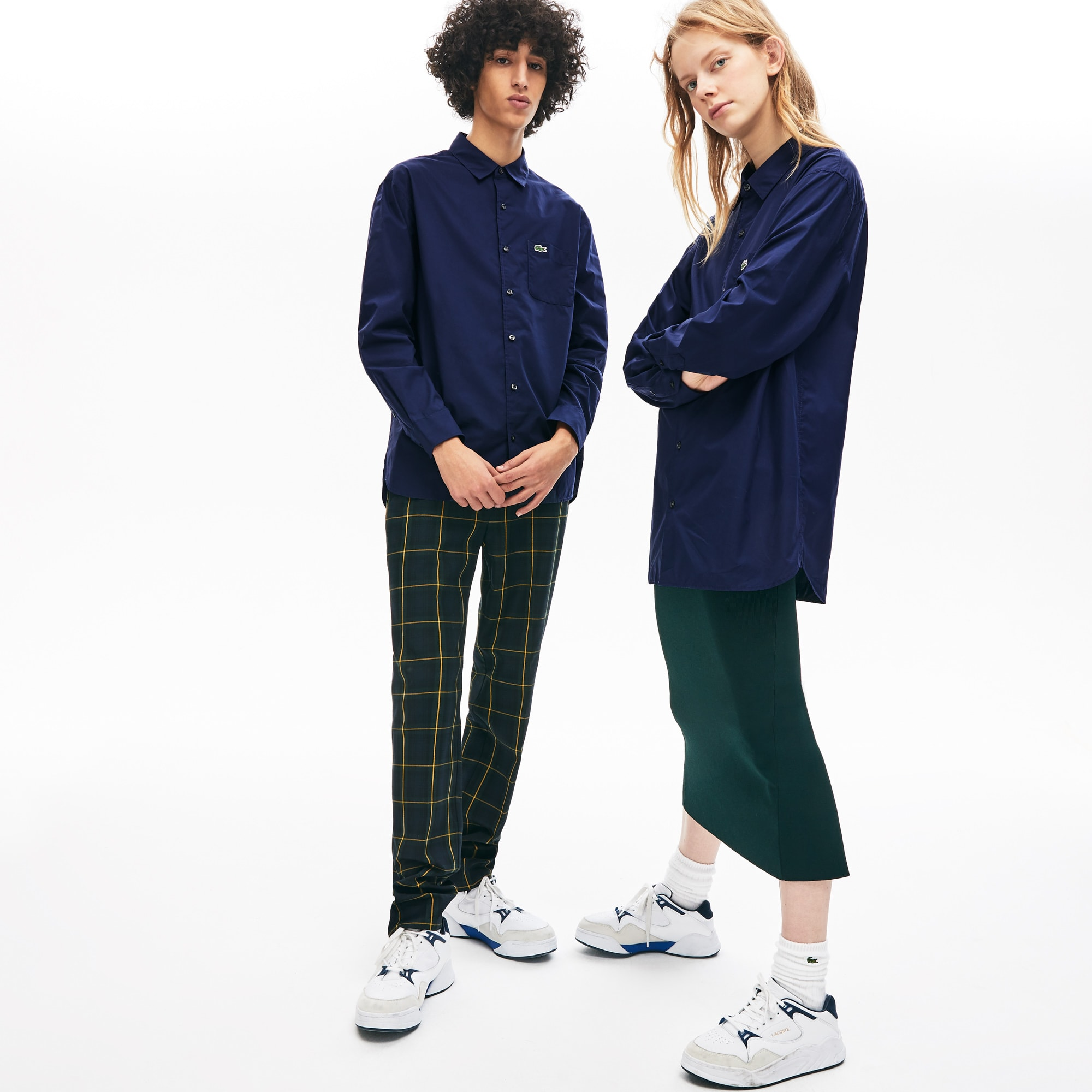 Unisex Lacoste LIVE Boxy Fit Cotton Poplin Shirt