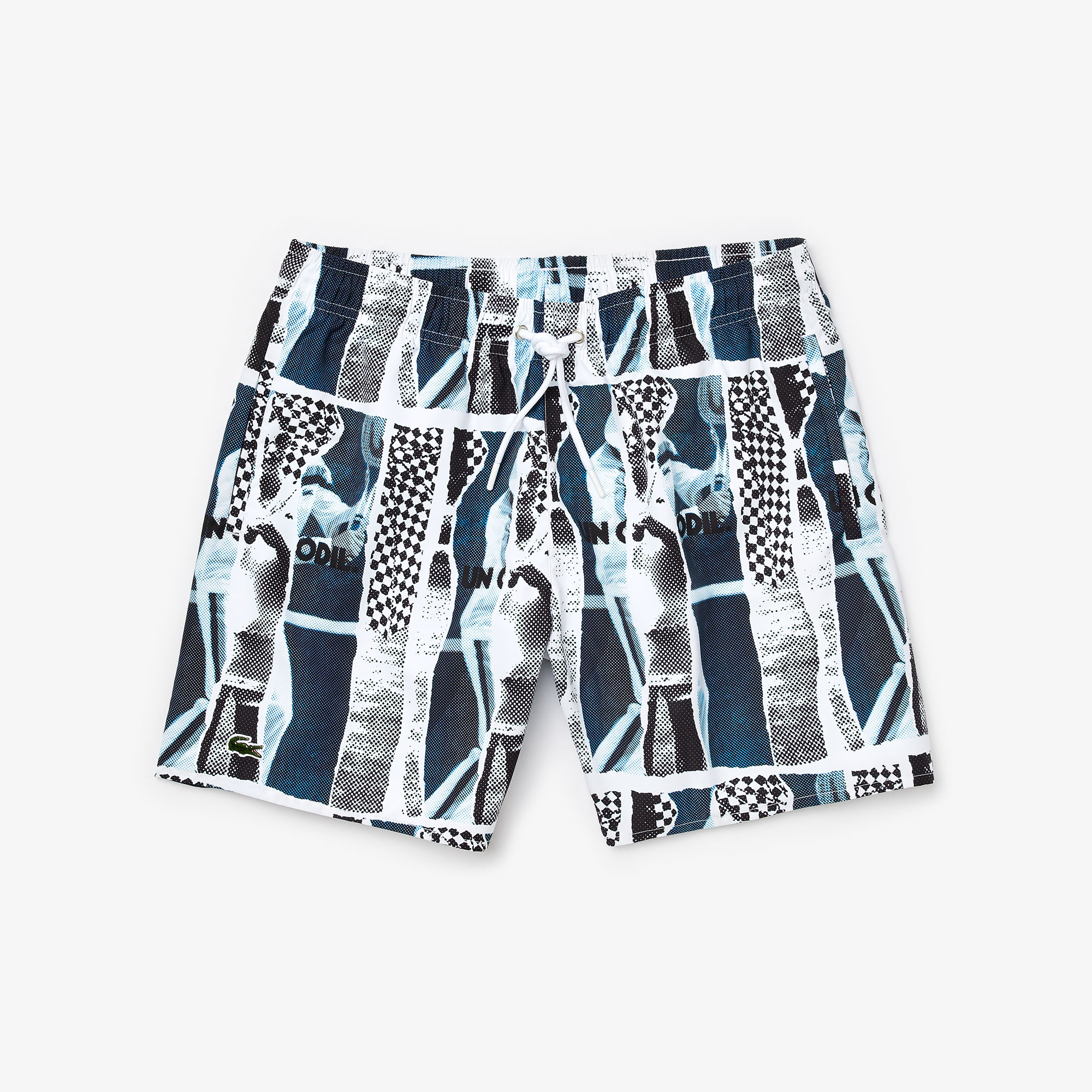 Men's Lacoste LIVE Graphic Print Lightweight Swimming Trunks