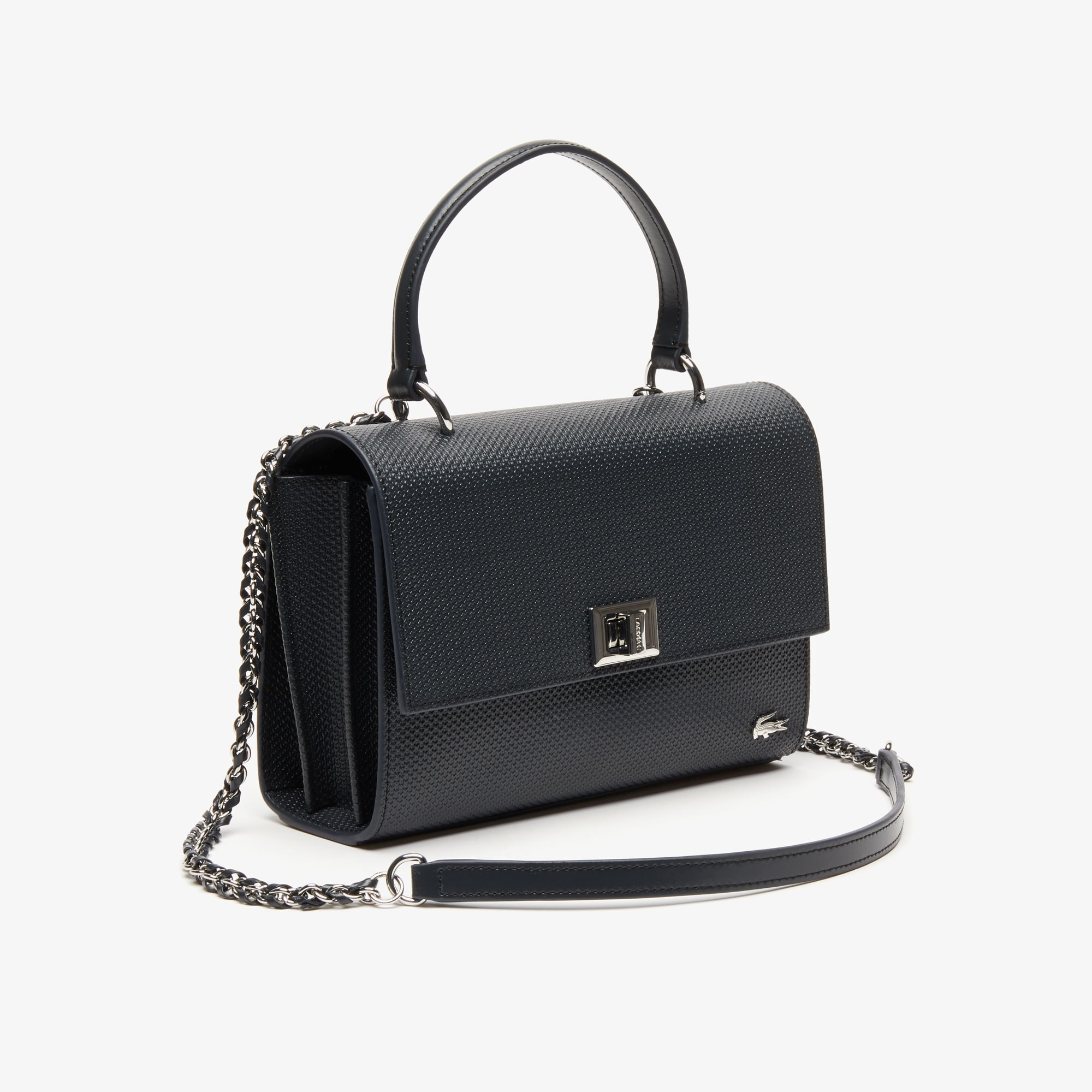 Women's Chantaco Clasp Piqué Leather Shoulder Bag