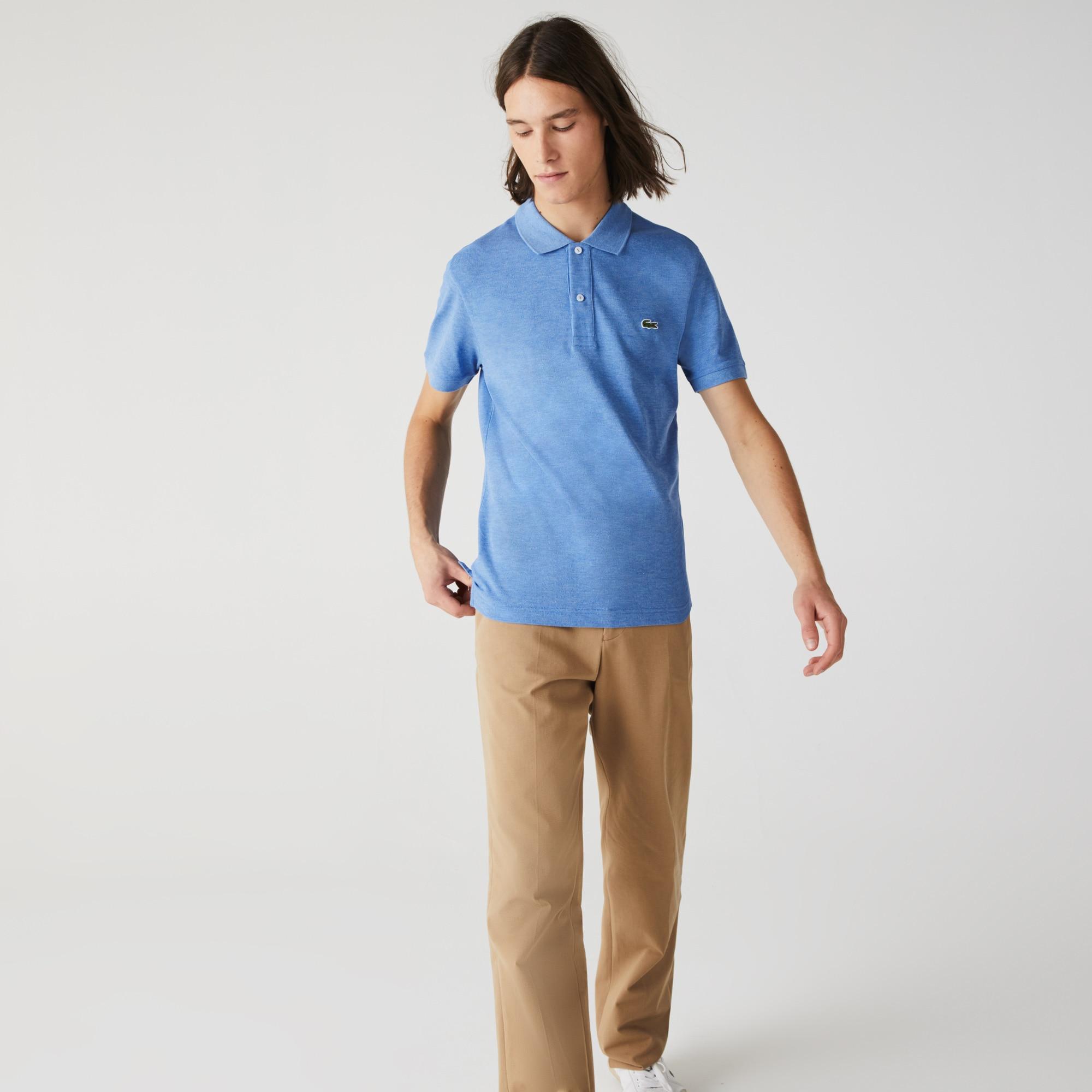 Lacoste PH4012 Men/'s PIQUÉ Slim Fit Ocean Blue Cotton Polo Shirt 3XL EU 8