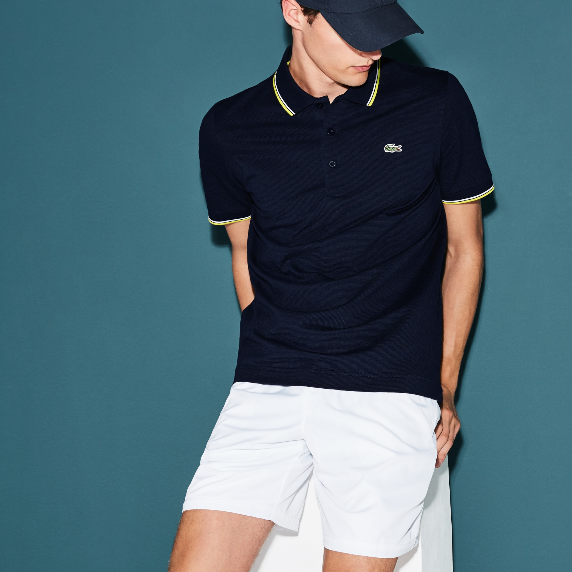 Men's Lacoste SPORT Ultra-light Knits Polo Shirt With Piping
