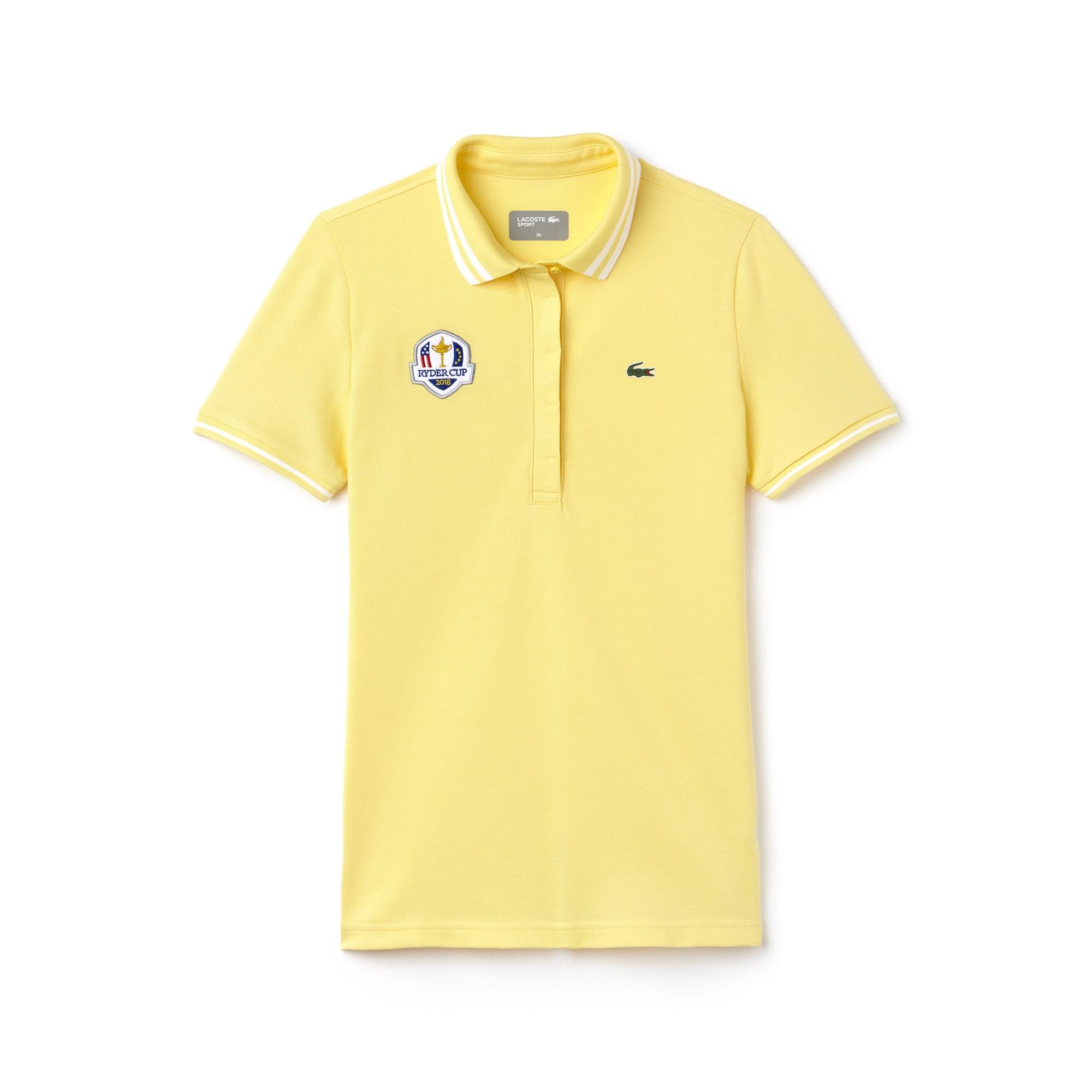 Women's Lacoste SPORT Ryder Cup Edition Tech Petit Piqué Golf Polo Shirt