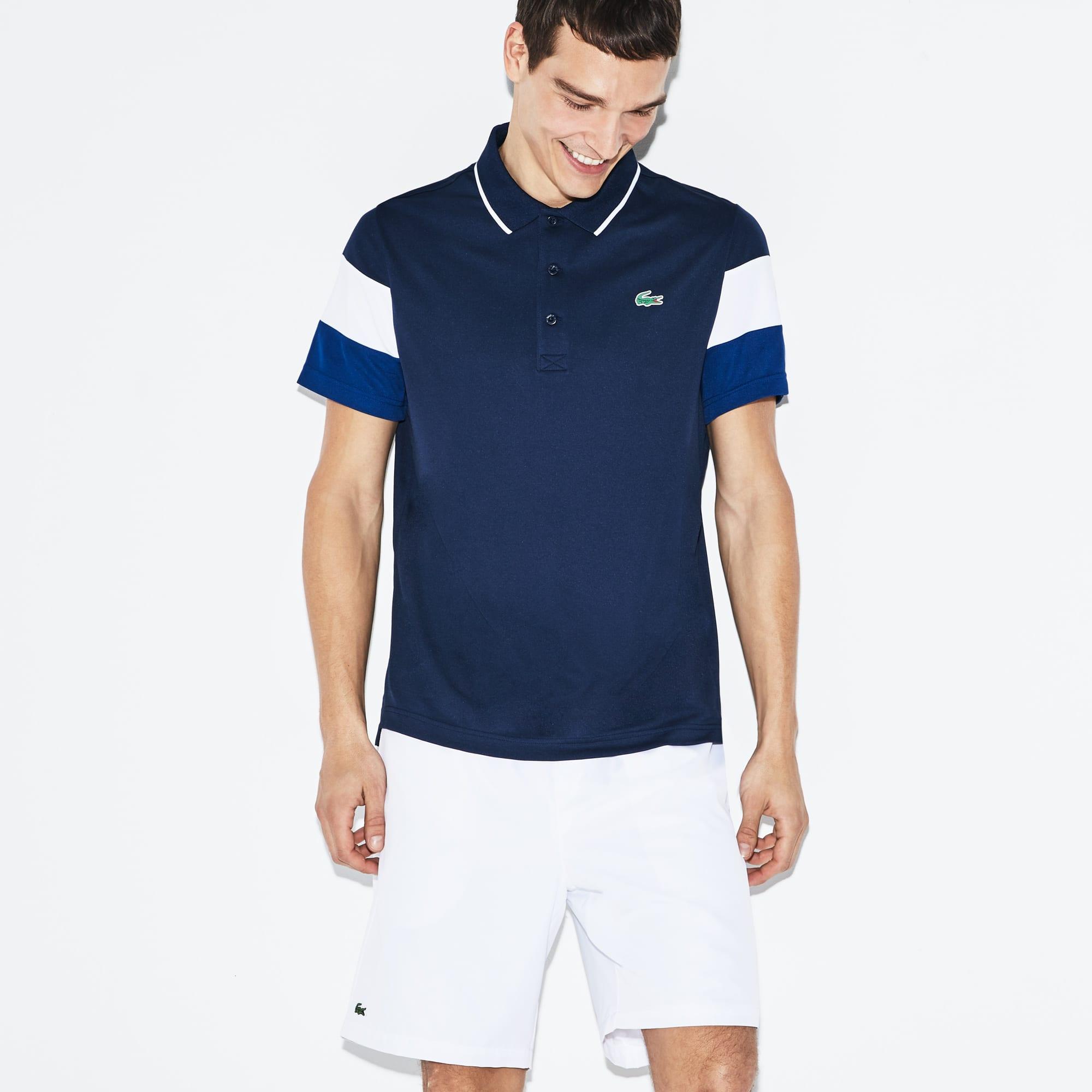 Men's Lacoste SPORT Colorblock Sleeves Technical Piqué Polo Shirt