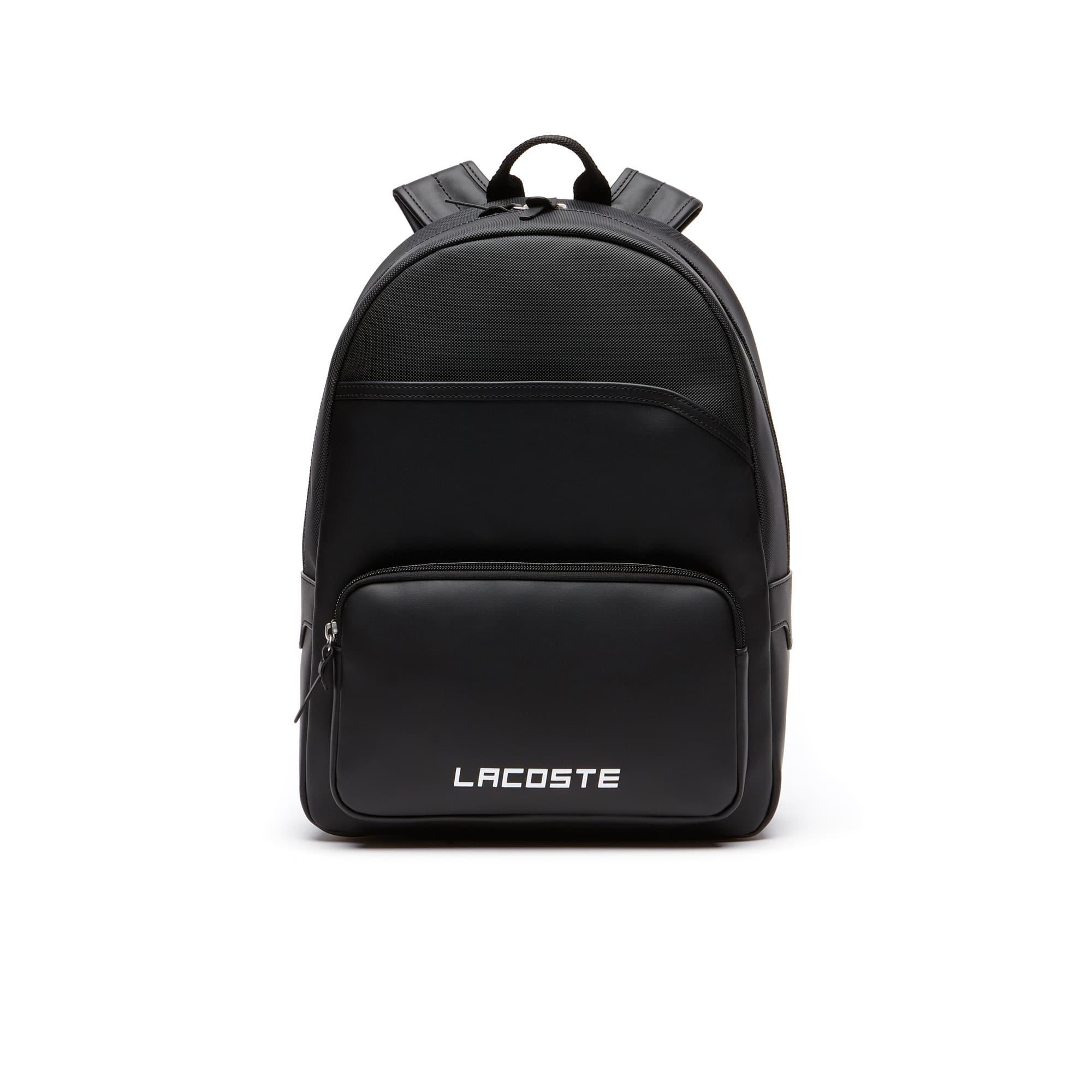 Men s Ultimum Lacoste Lettering Petit Piqué Backpack af329cd2fe